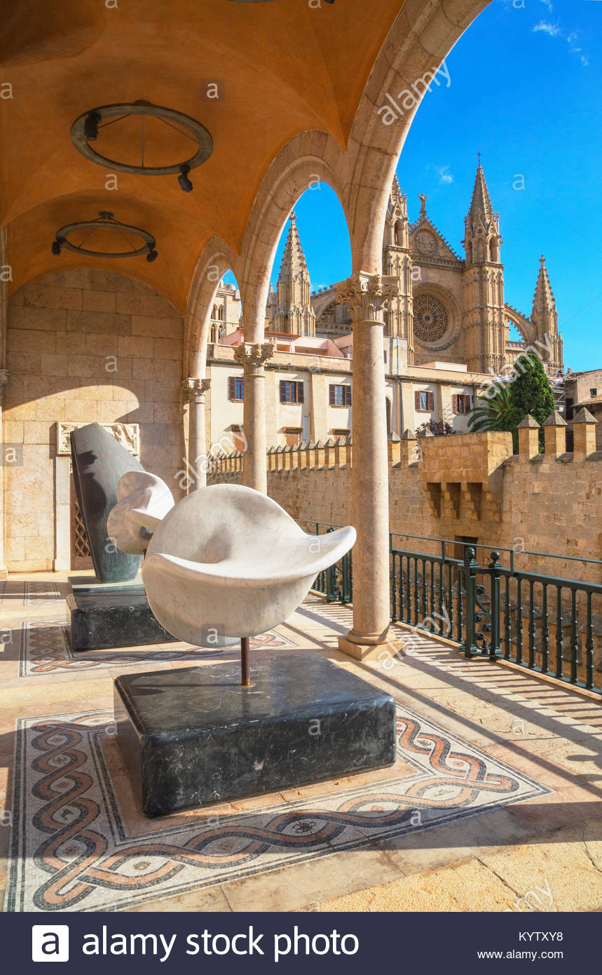 La Seu Cathedral, Palma de Mallorca, Mallorca, Balearic Islands, Spain, Europe - Stock Image