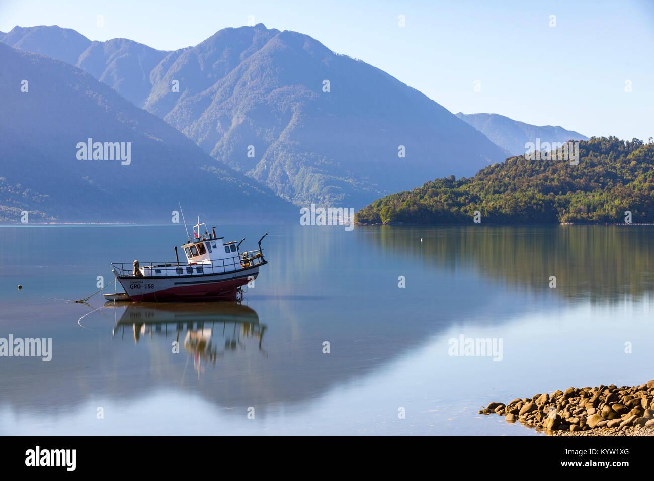 Hornopiren, Chile - Stock Image