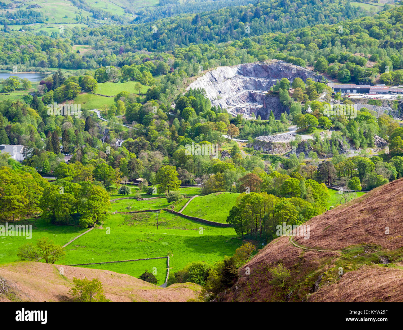 Langdale slate quarries in Great Langdale, Lake District National Park,UK - Stock Image