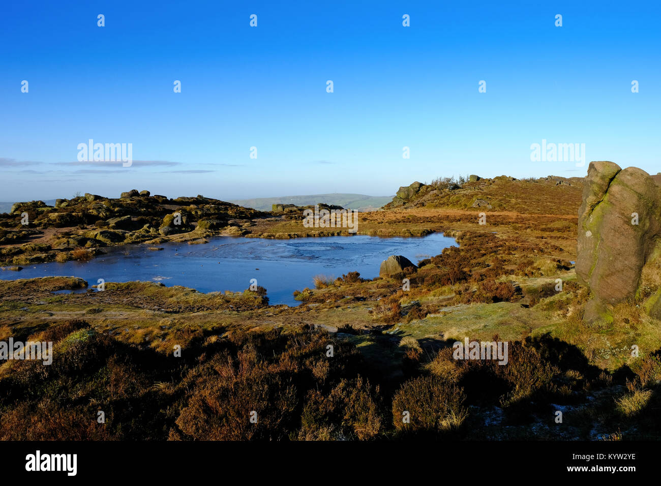 Doxey'sPool at The Roaches, Staffordshire Moorlands,Peak District National Park - Stock Image