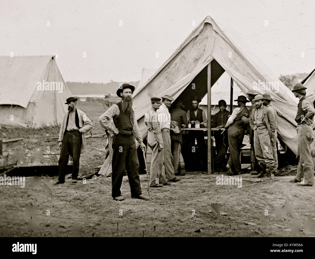 Petersburg, Va. Sutler's tent, 2d Division, 9th Corps - Stock Image