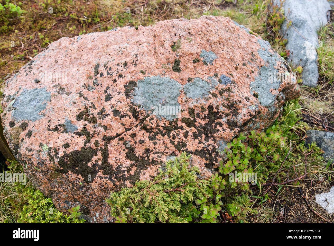 Red Granite Boulder : Red granite stock photos images alamy