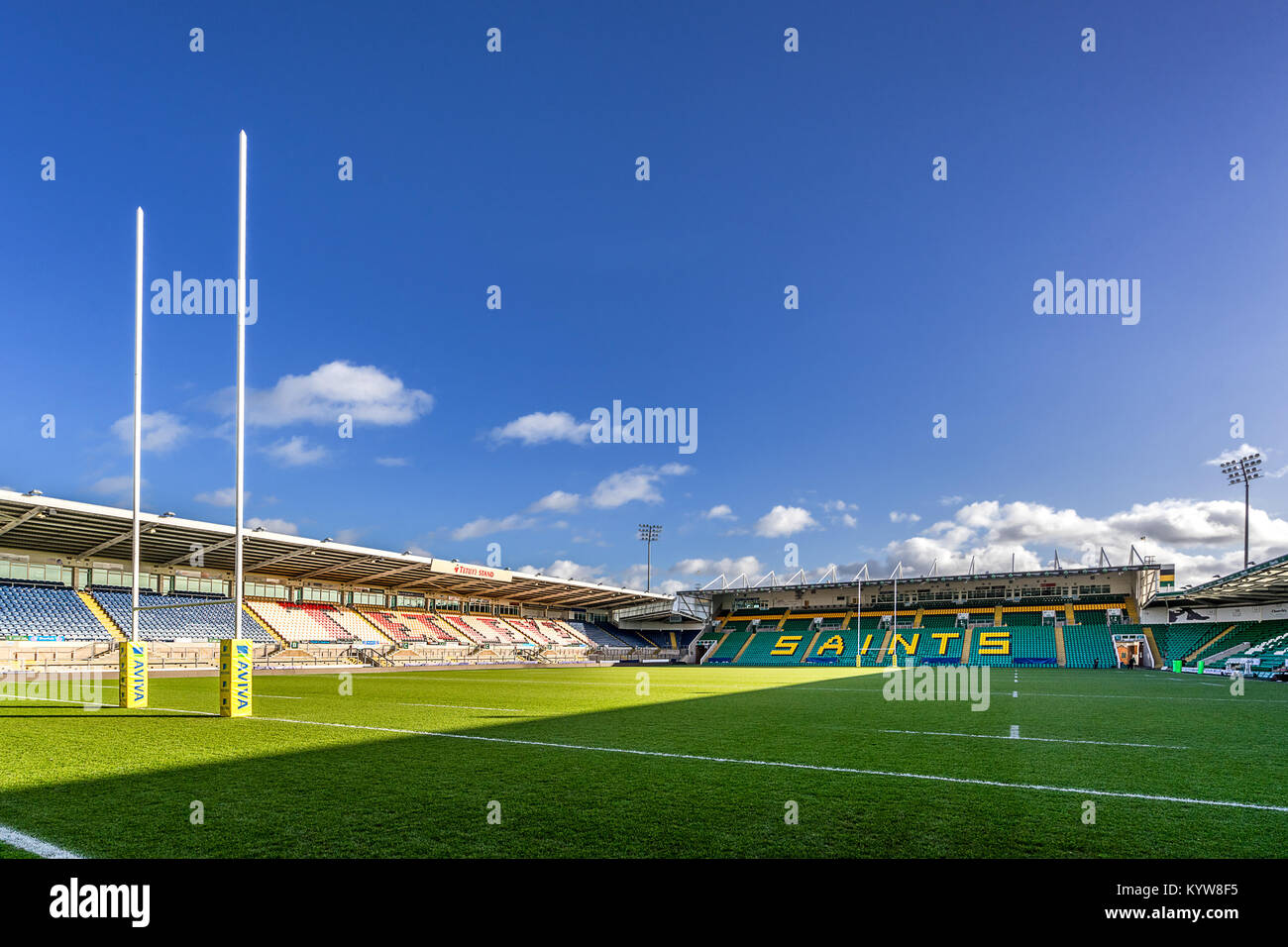 Franklin Gardens the home of Northampton Saints Rugby Club