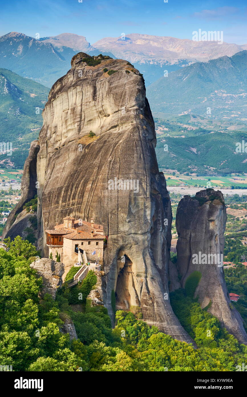 Monastery at Meteora, Greece - Stock Image