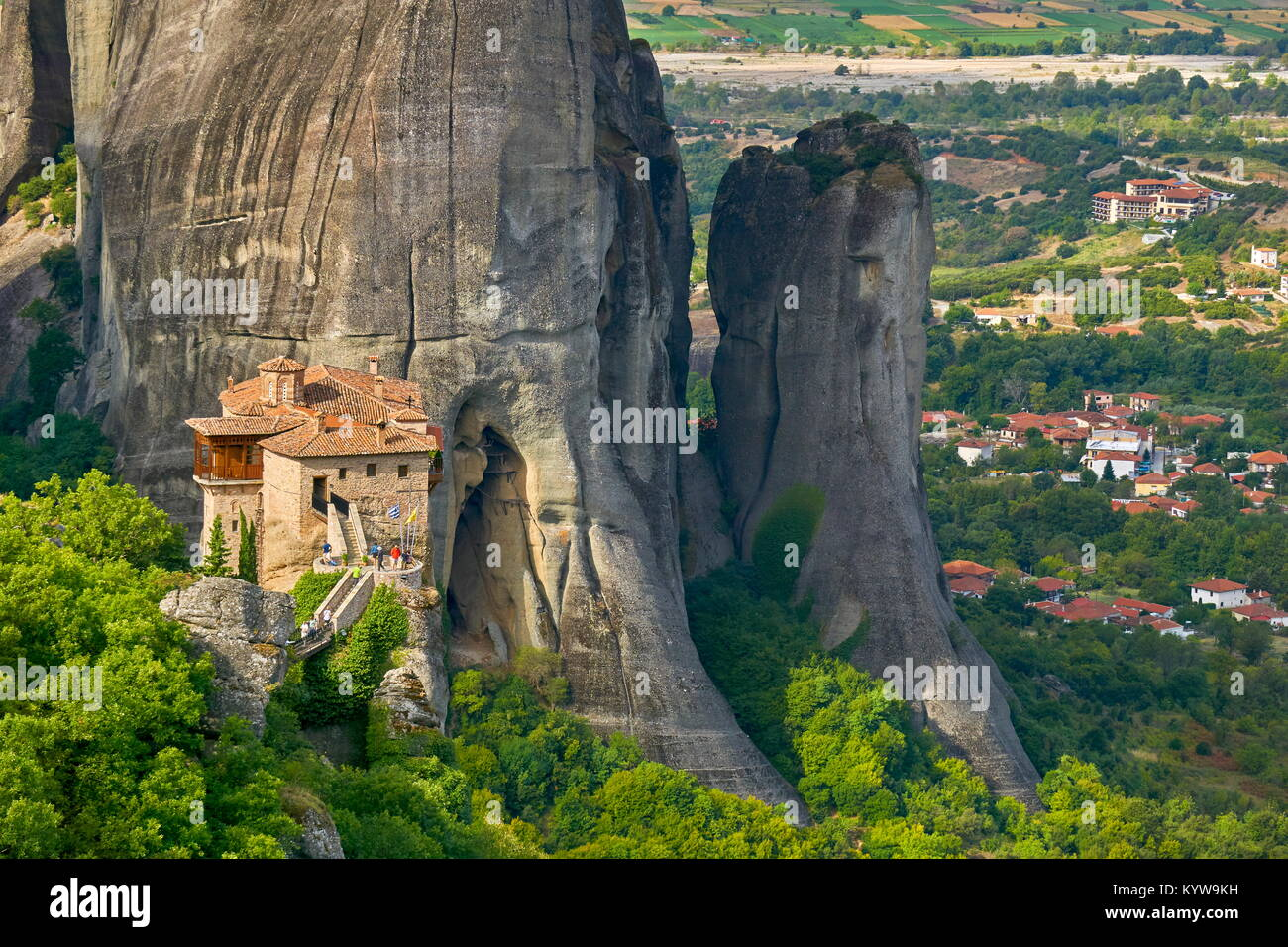 Greece - Roussanou Monastery at Meteora - Stock Image