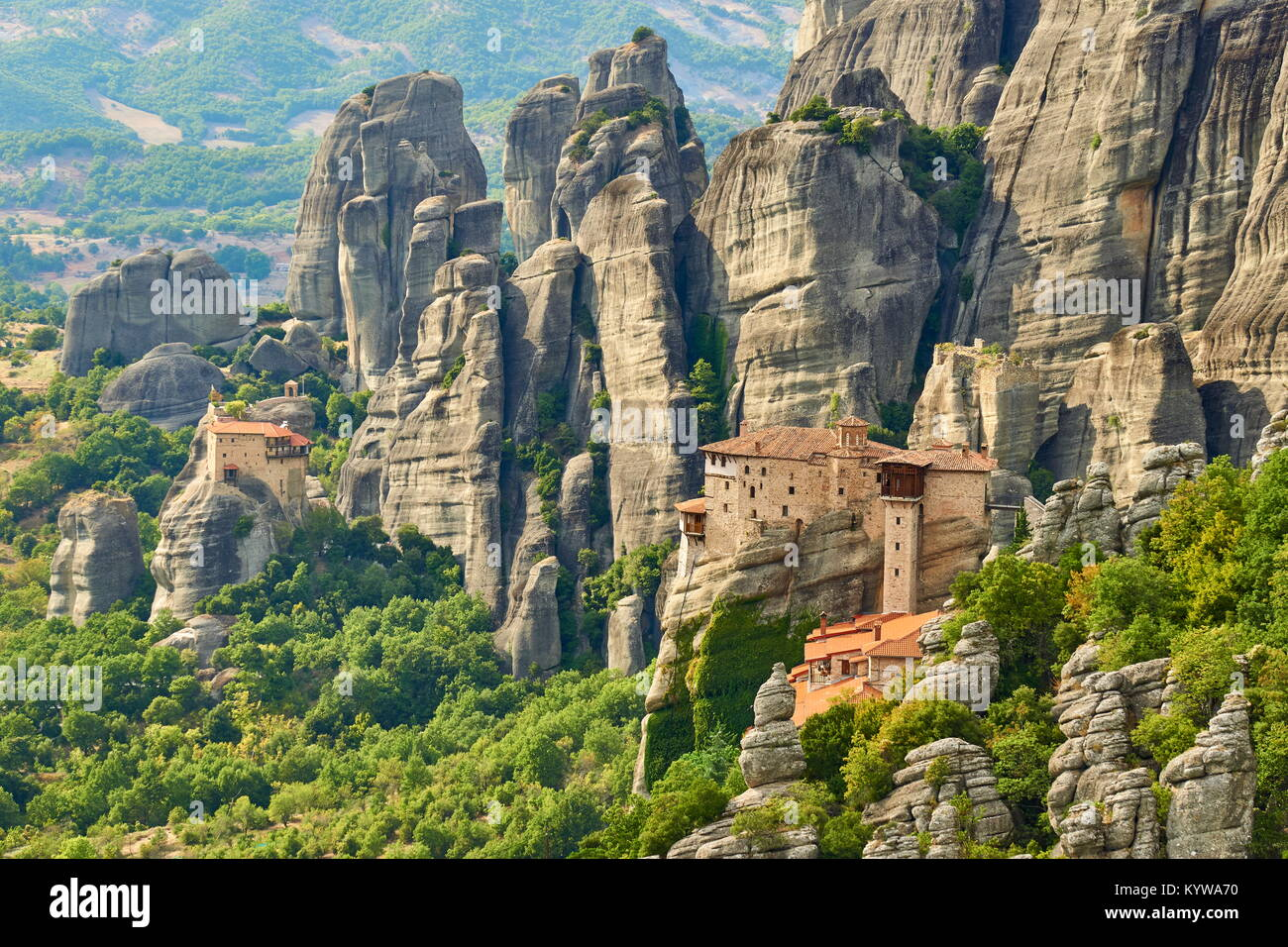 Meteora Monastery, Greece - Stock Image