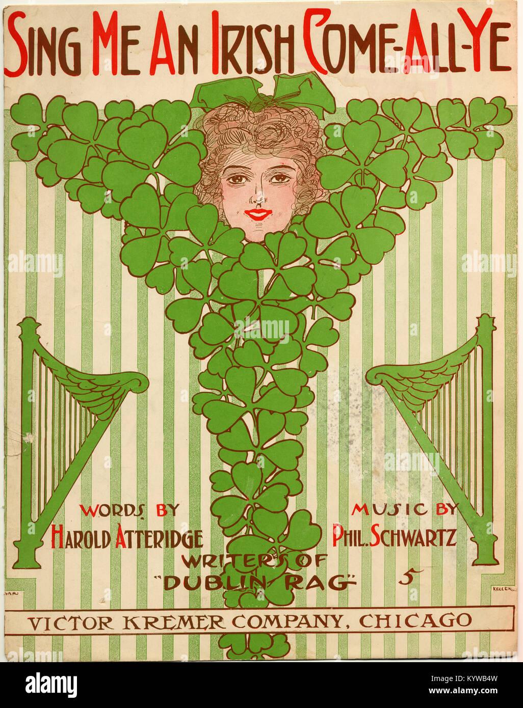 Sing Me an Irish Come all Ye - Stock Image