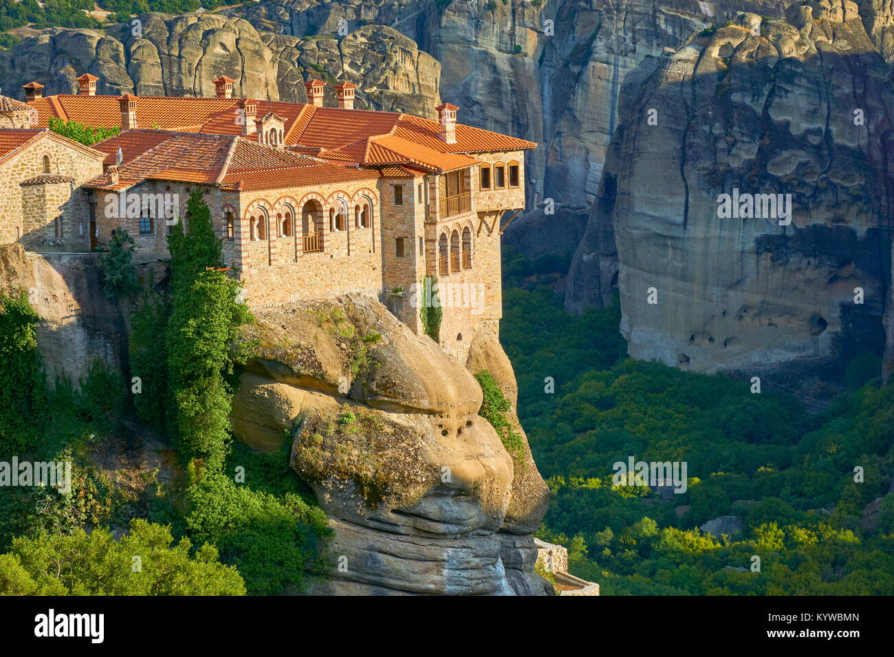 Greece - Varlaam Meteora Monastery - Stock Image