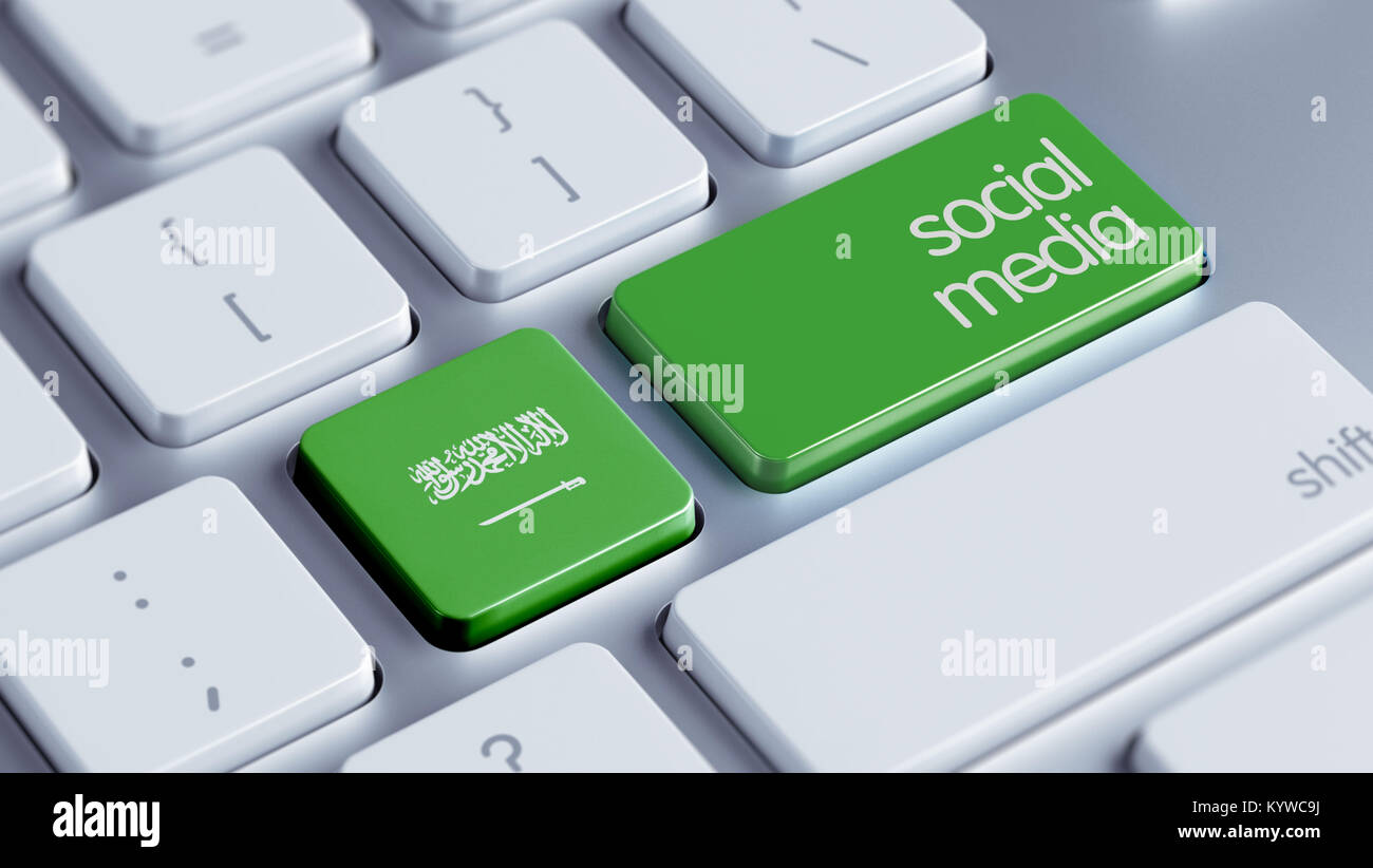 Saudi Arabia High Resolution Social Media Concept Stock Photo
