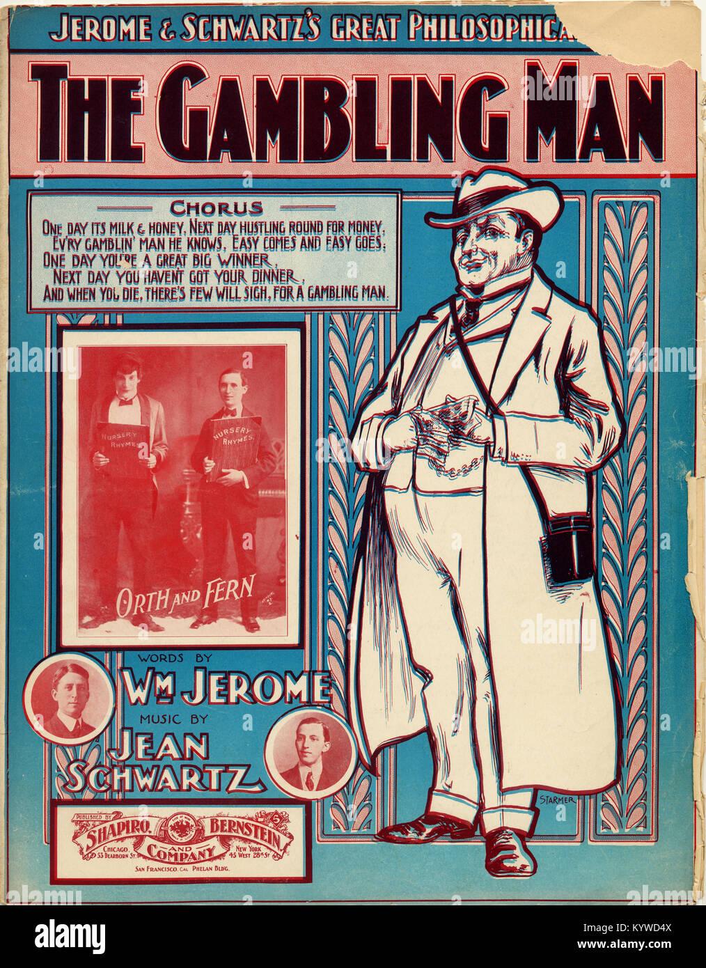 The Gambling Man - Stock Image