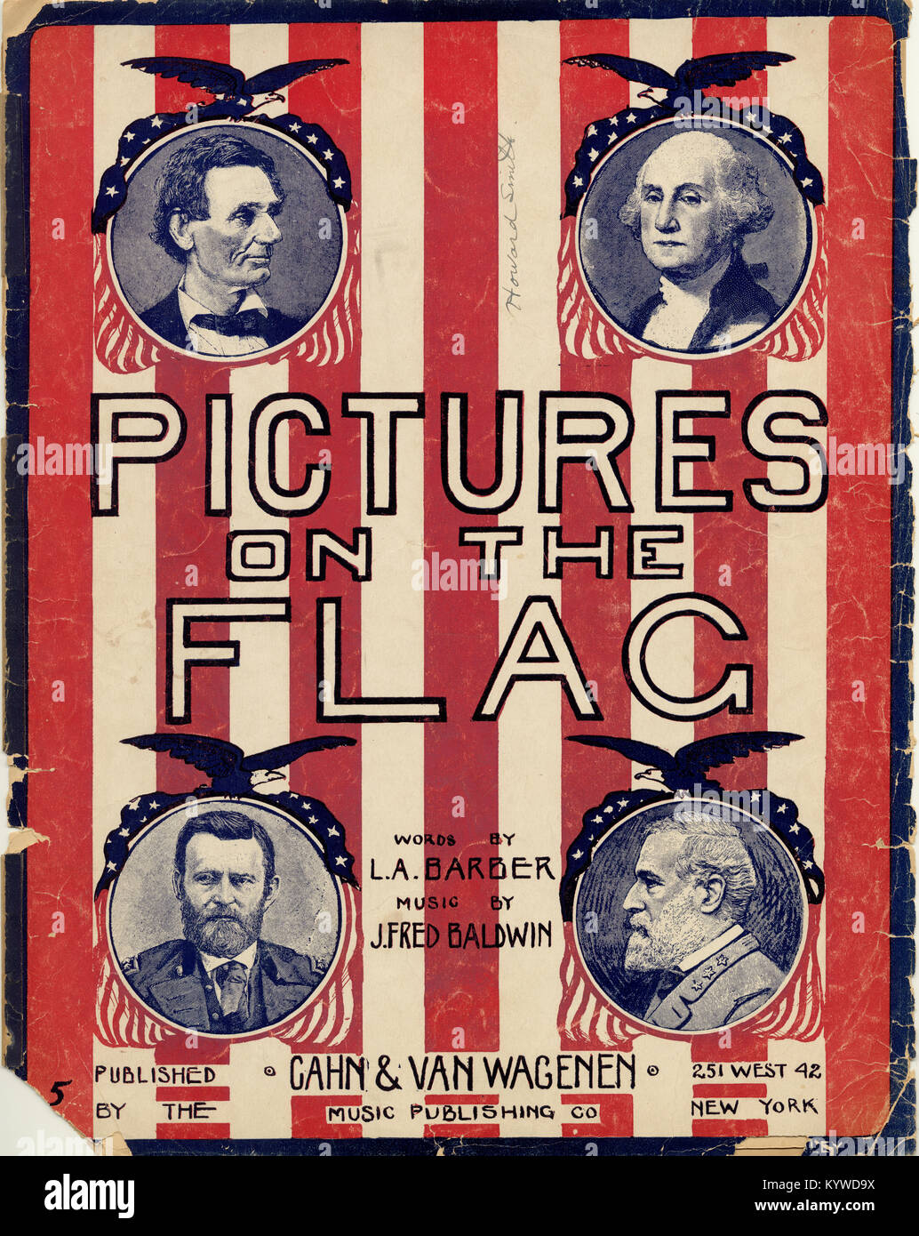 Pictures on the Flag - Stock Image