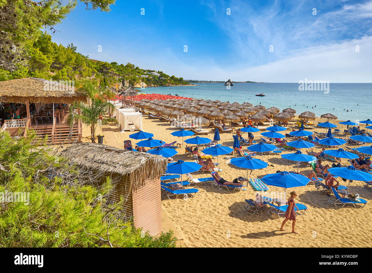 Gialos Beach near Agrostoli, Kefalonia Island, Greece - Stock Image
