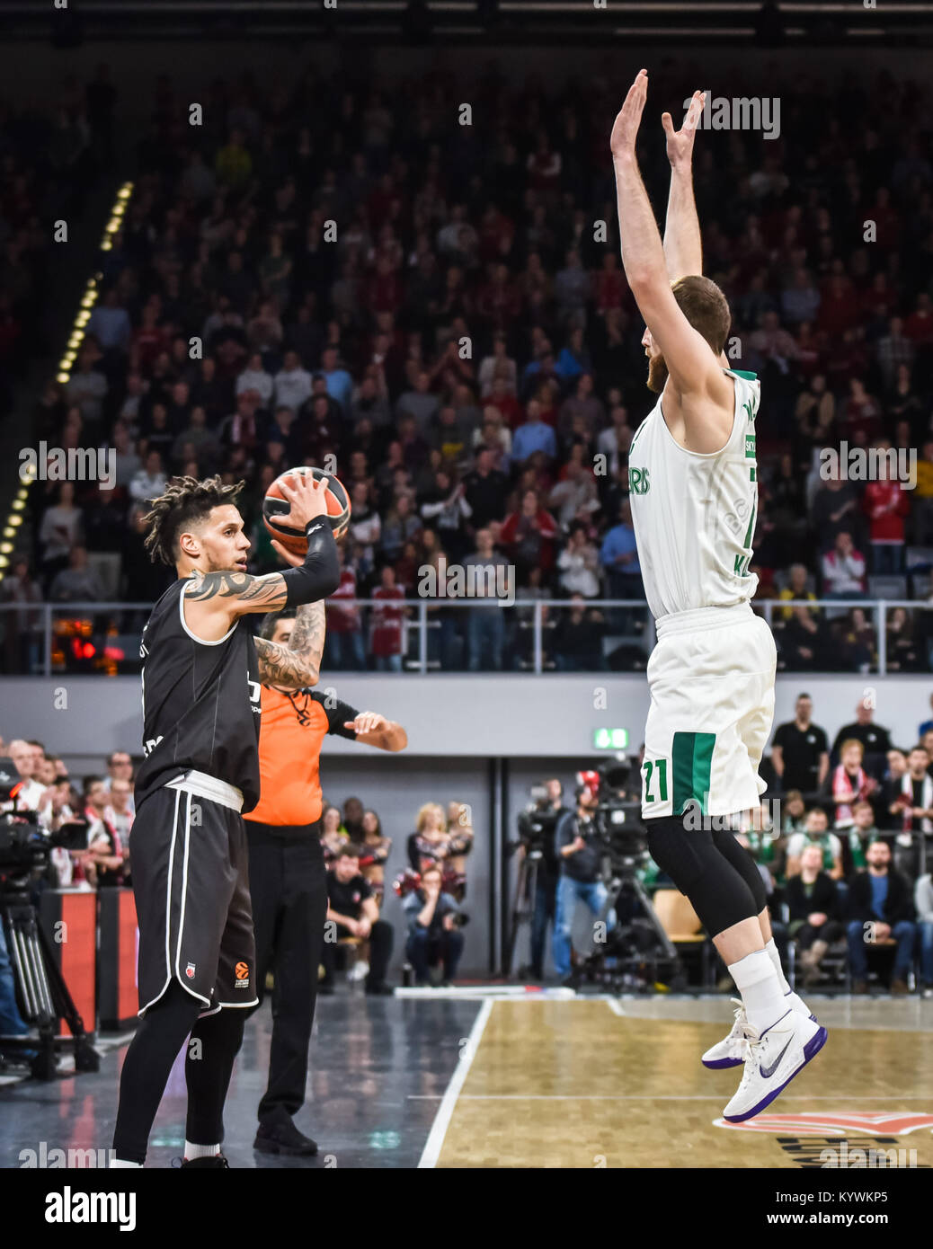 Bamberg, Germany. 16th Jan, 2018. Germany, Bamberg, Brose Arena, 16.01.2018, Basketball - Euroleague - Round 18 - Stock Image