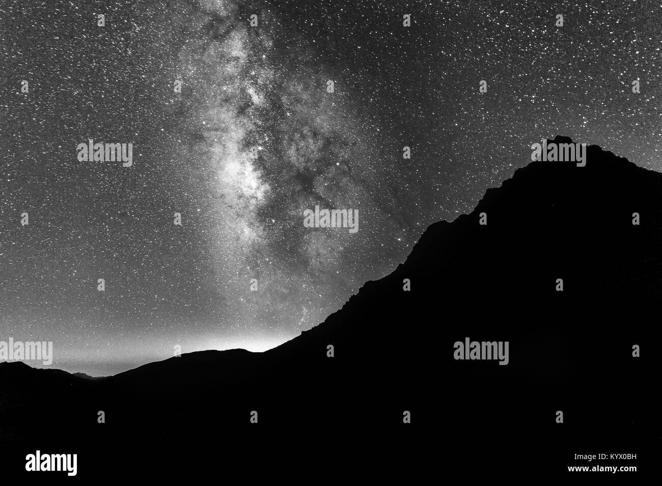 Milky way galaxy as seen from Satsar Campsite on the Kashmir great lakes trek at Sonamarg, Jammu and Kashmir, India. - Stock Image