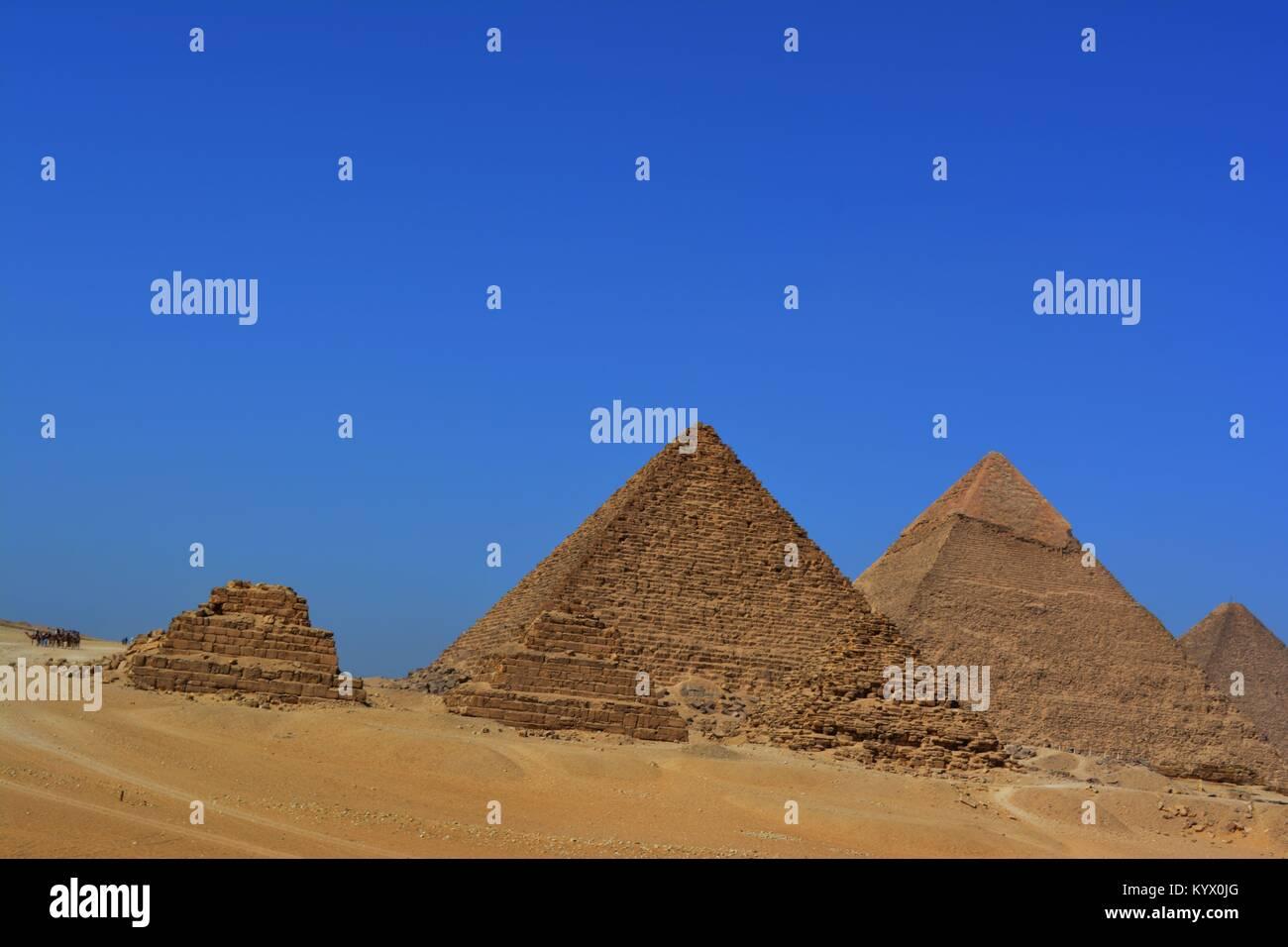 giza piramids, 5 piramids - Stock Image