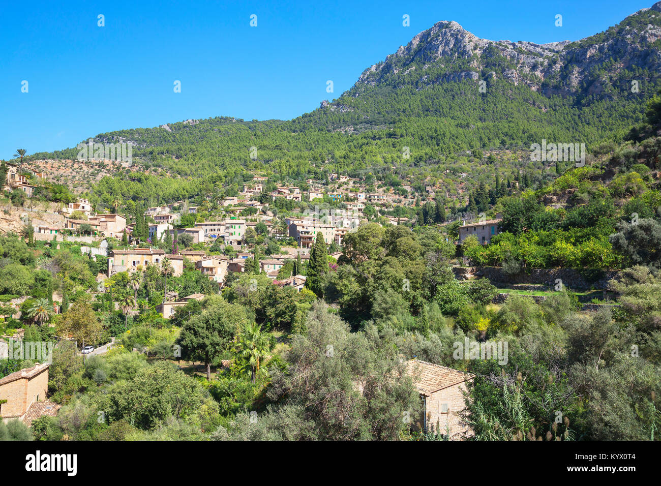 Deia village, Deia, Mallorca, Balearic Islands, Spain, Europe - Stock Image
