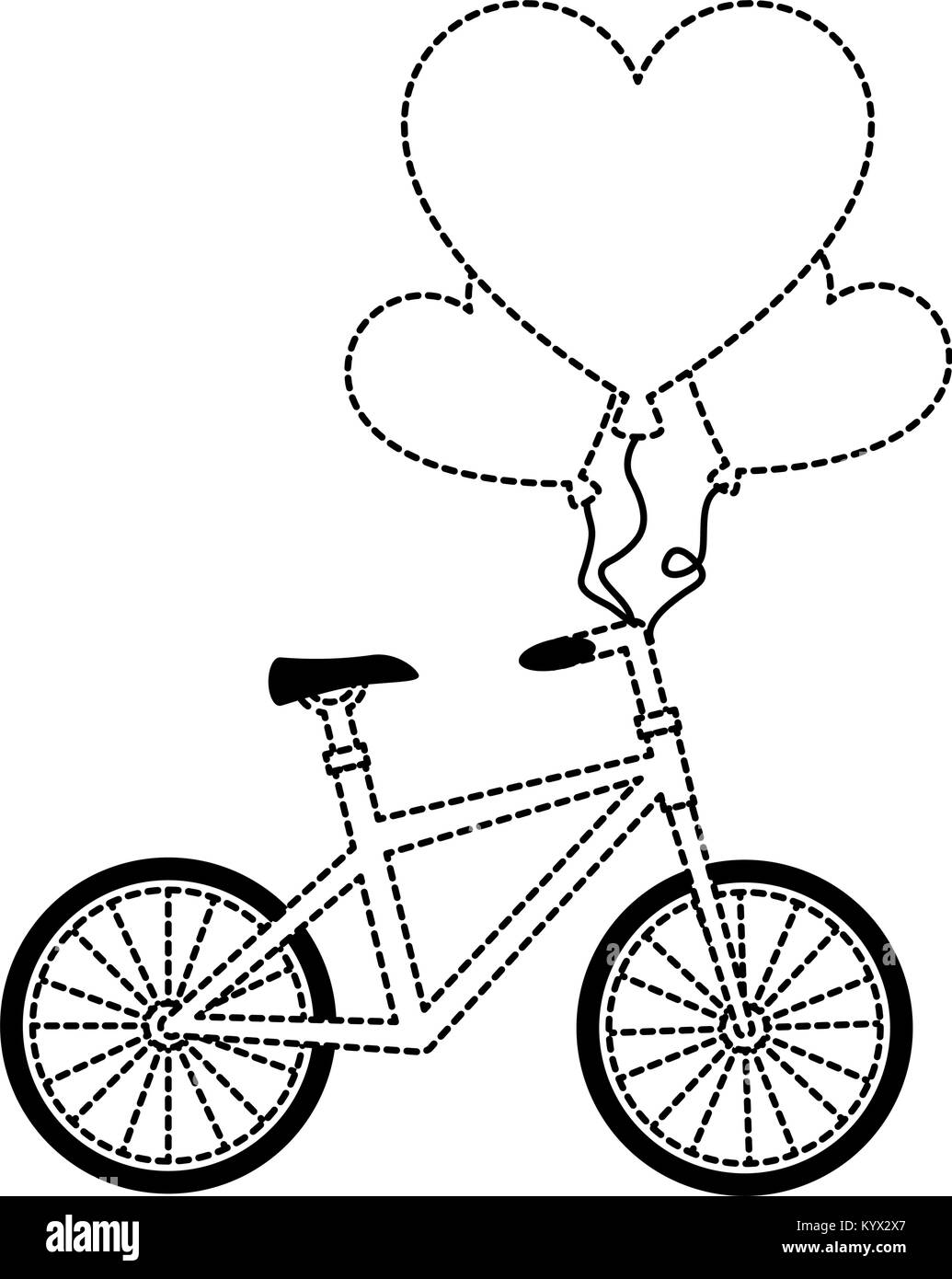 balloons race black and white stock photos images alamy Soap Box Derby Car bicycle with love hearts balloons air vector illustration design stock image