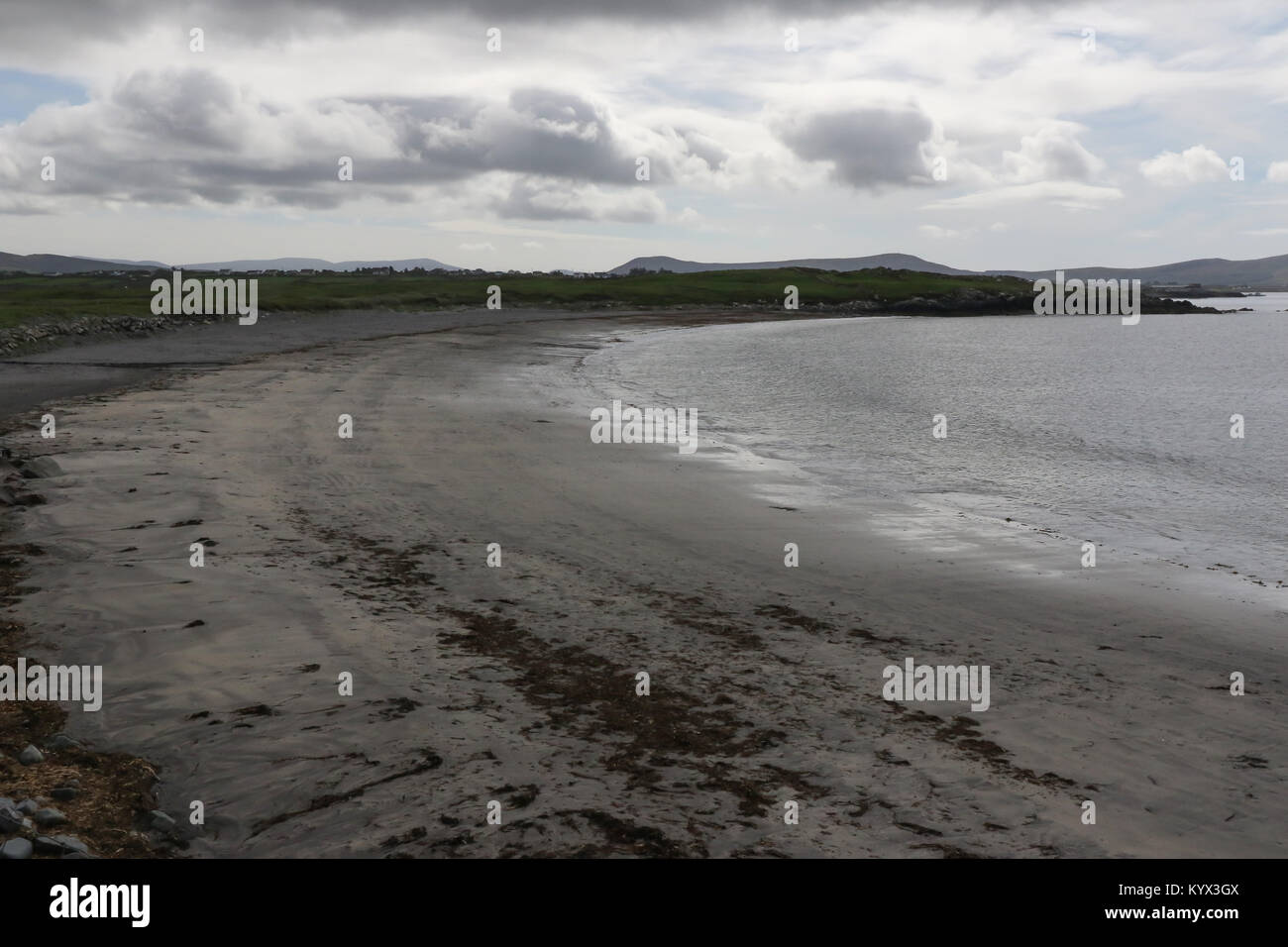 White Strand beach, County Kerry. A blue flag beach near Cahirsiveen in County Kerry. - Stock Image