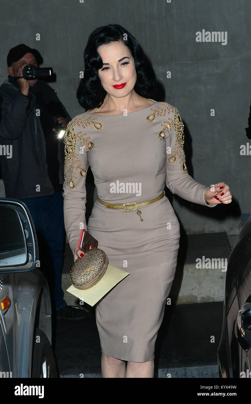 Dita Von Teese At Maxfield Store In For Her Product Colaboration Event with the store.  Featuring: Dita Von Teese - Stock Image