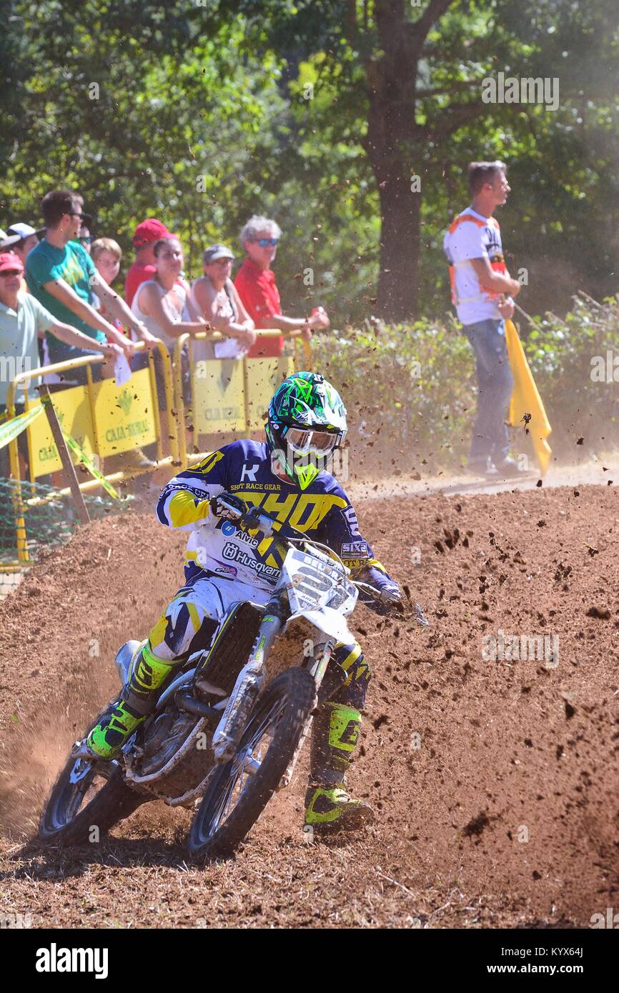 SARIEGO, SPAIN - AUGUST 22: Legendary Sariego motocross test in August 22, 2016 in Sariego, Spain. Nil Arcarons - Stock Image