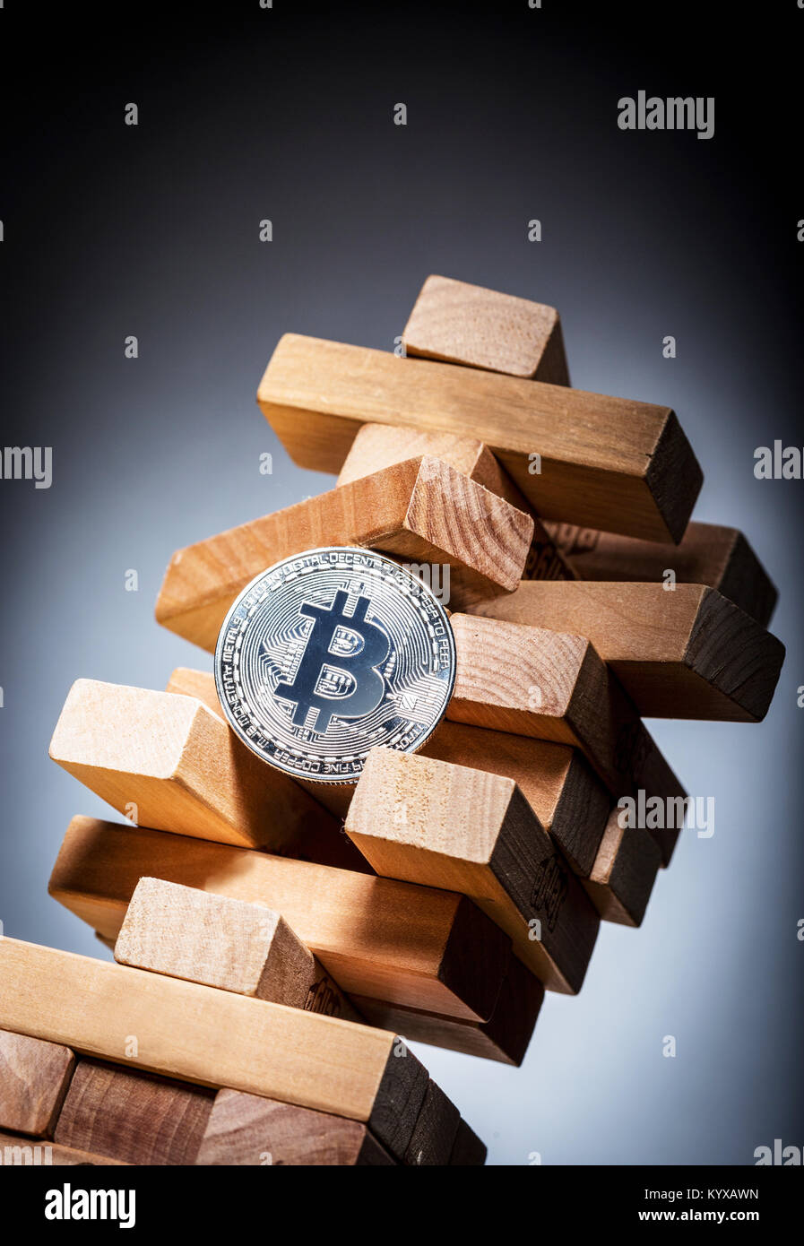 Bitcoin investment risk concept image - Stock Image
