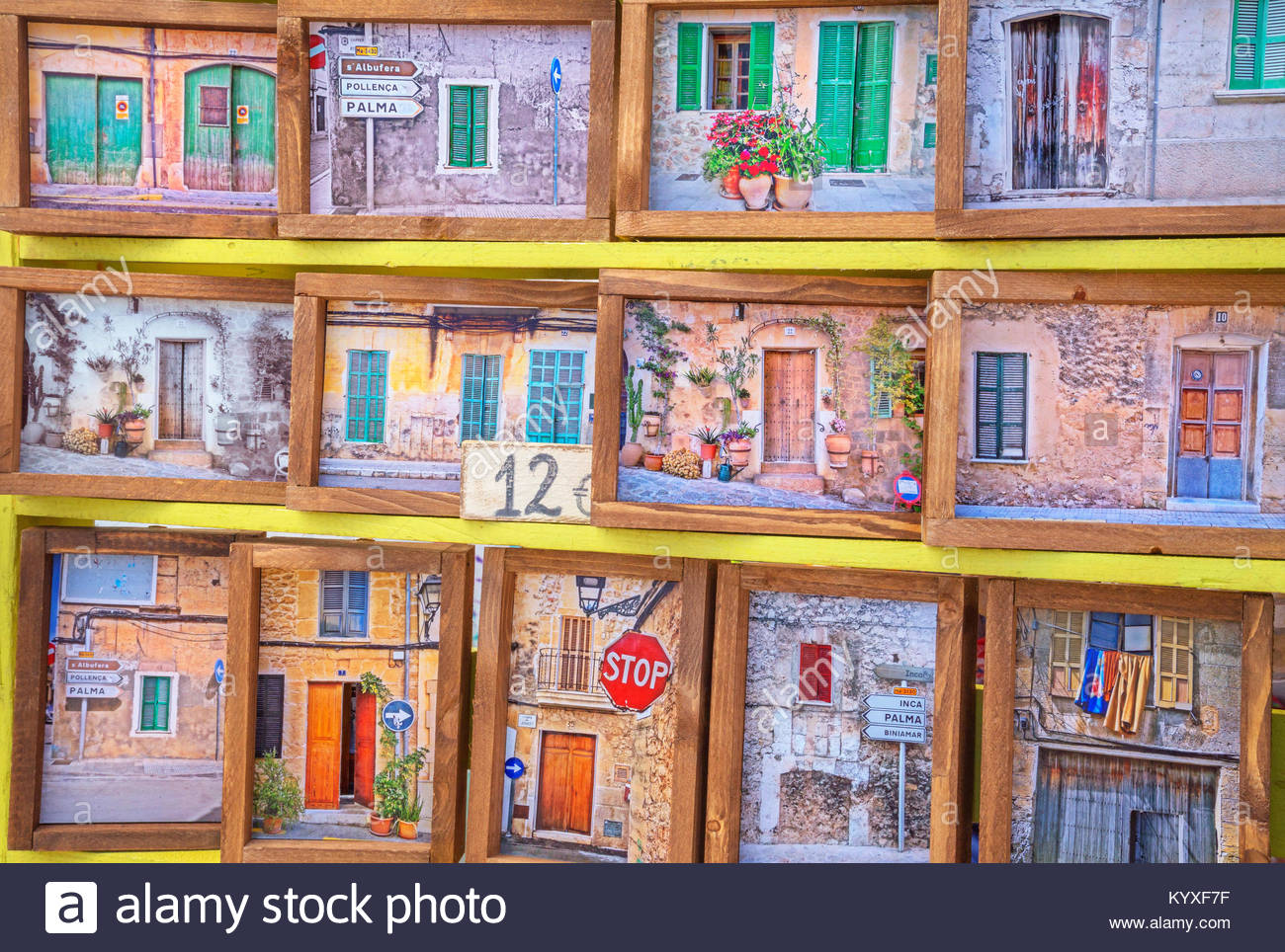 Local market stand, Alcudia, Mallorca, Balearic Islands, Spain, Europe - Stock Image