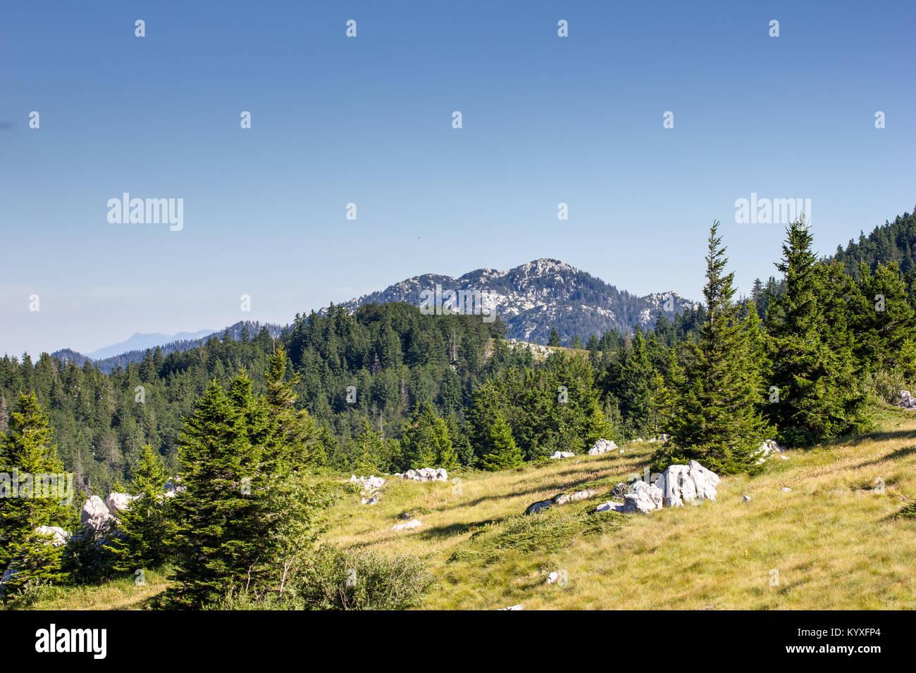 Velebit mountain peaks Zavizan - Northern Velebit National Park, Croatia -  Aug 2016 Stock Photo
