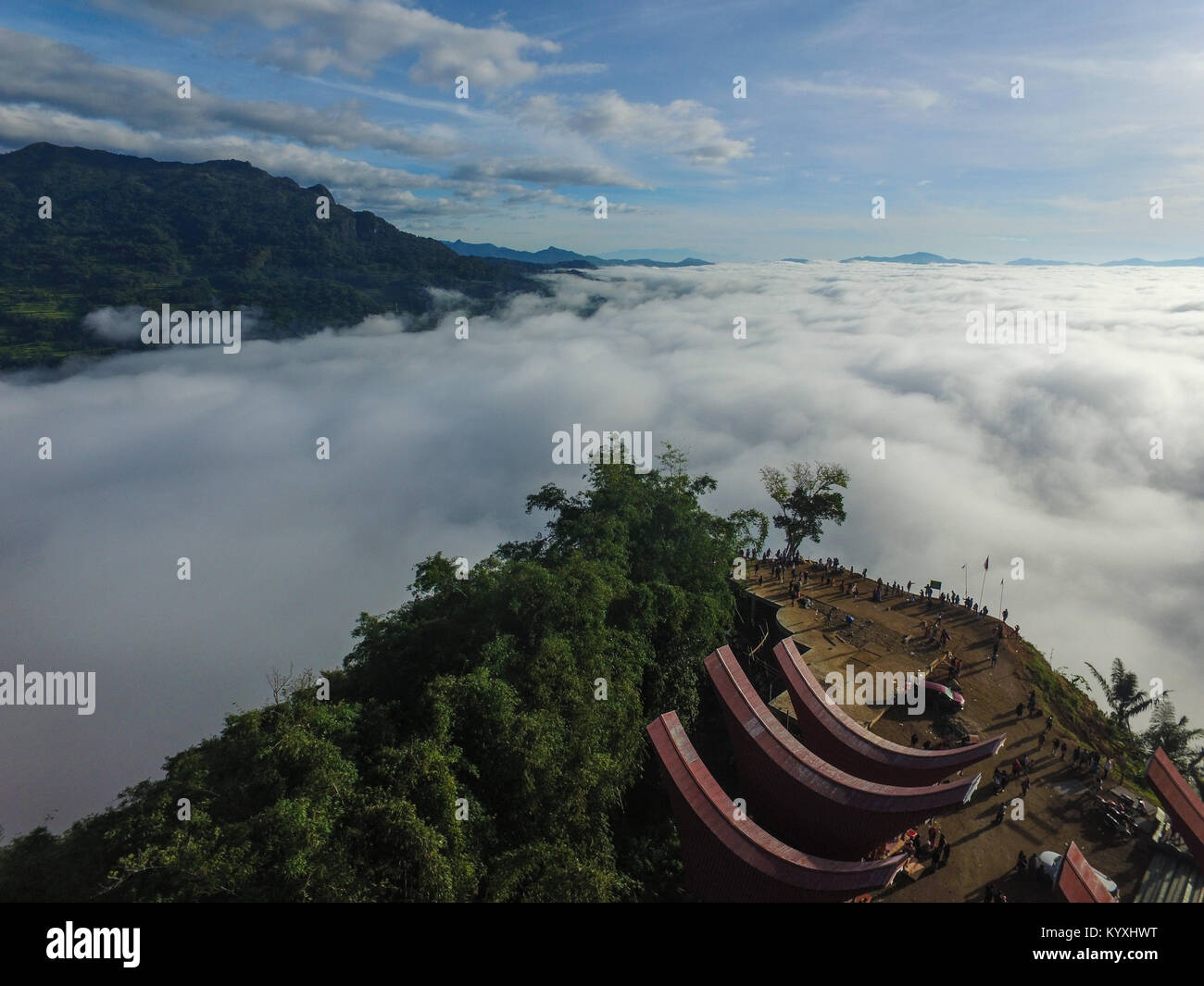 Lolai the land above the clouds in the regency of North Toraja - South Sulawesi - Indonesia. - Stock Image
