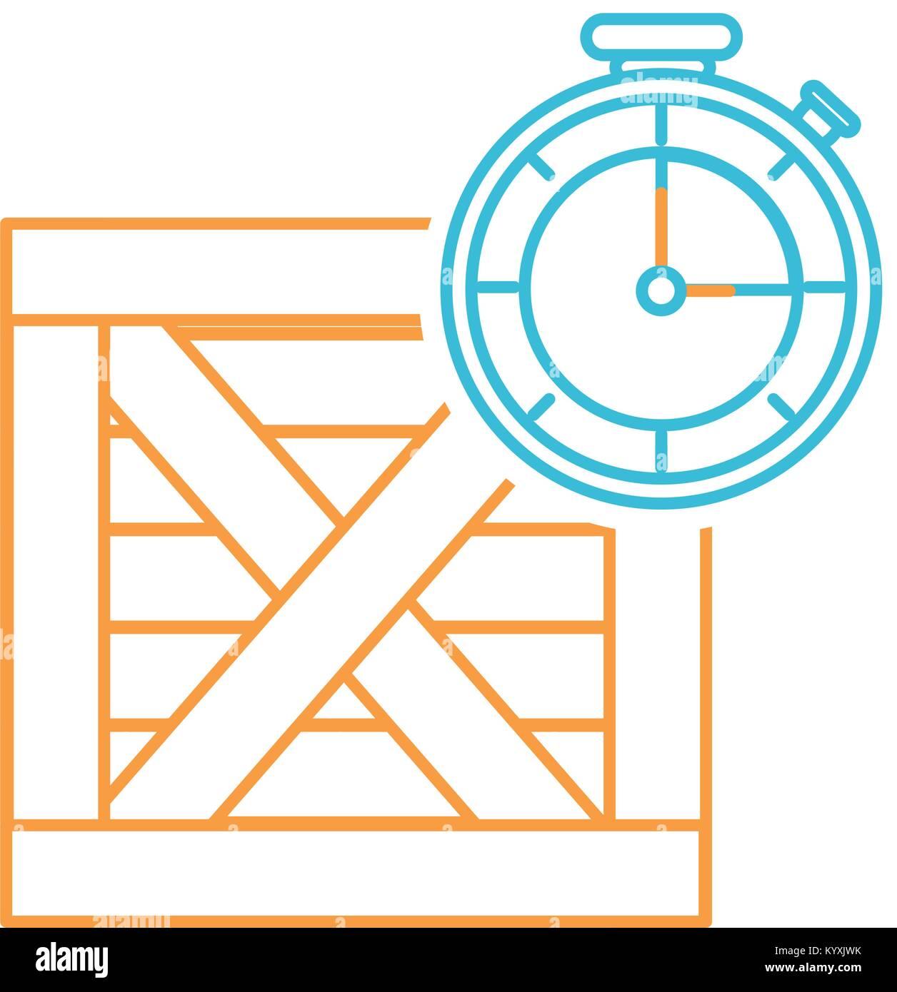 Box and chronometer design - Stock Image