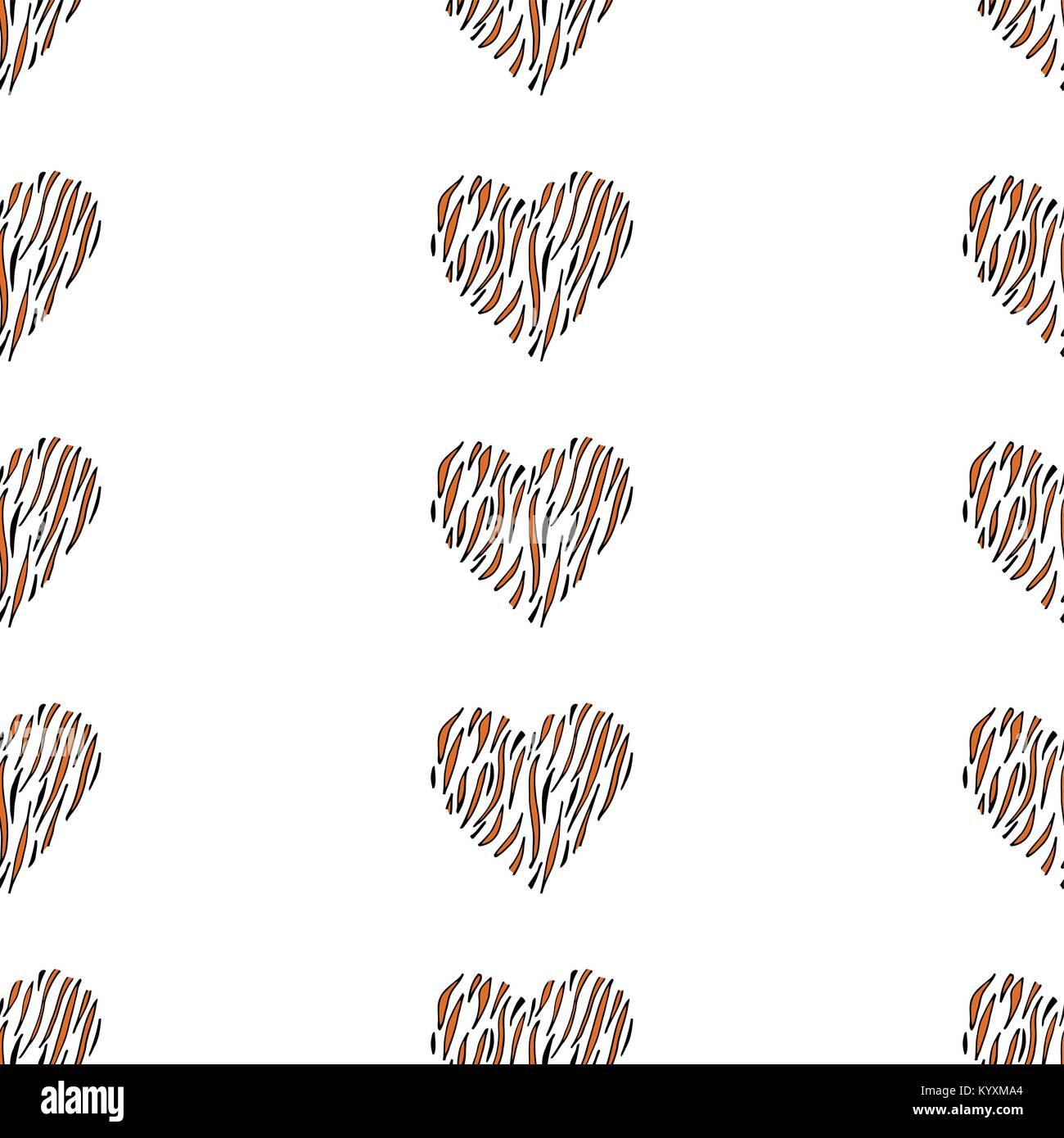 Seamless pattern background heart. - Stock Image