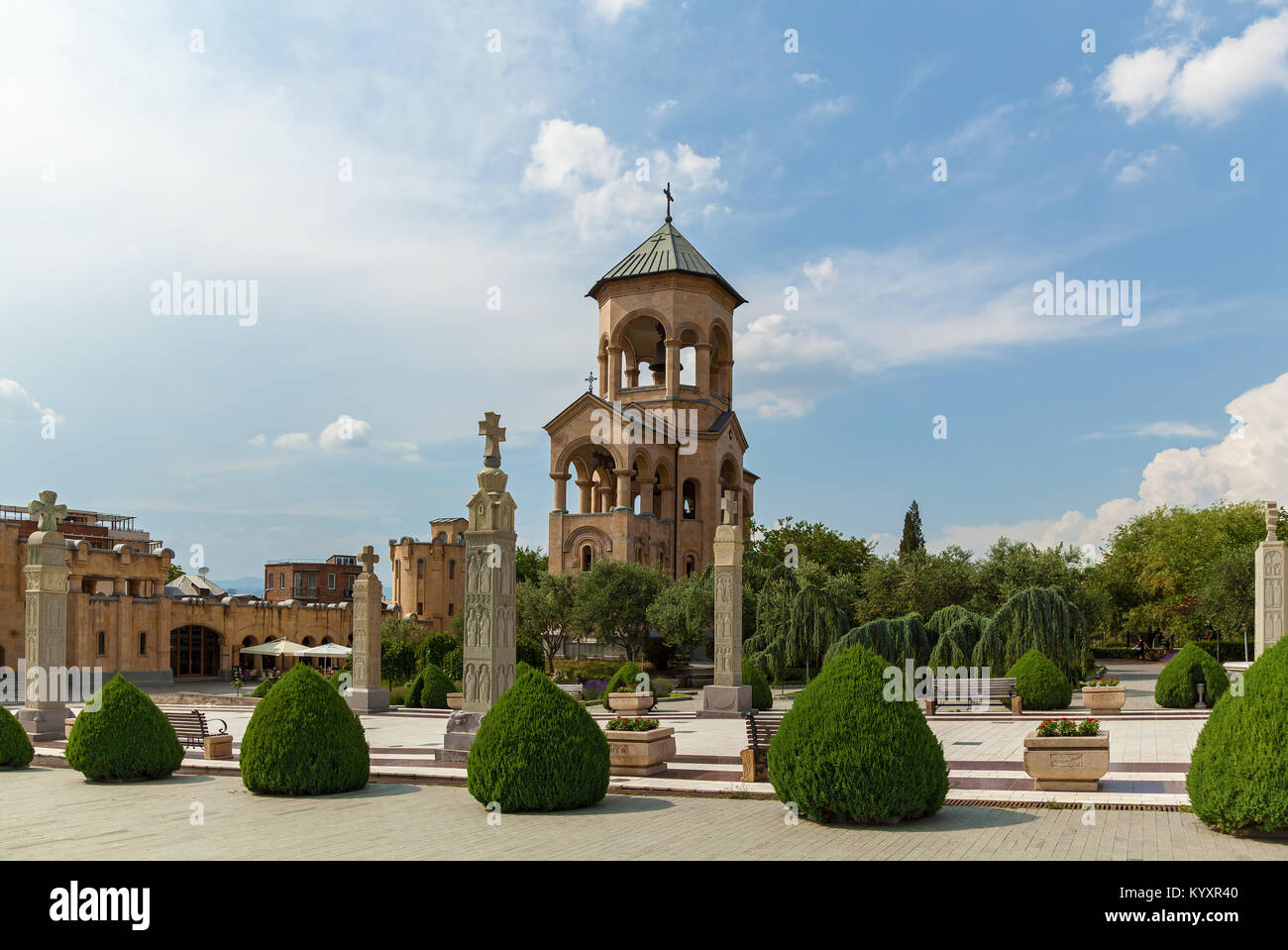 The Holy Trinity Cathedral of Tbilisi. - Stock Image