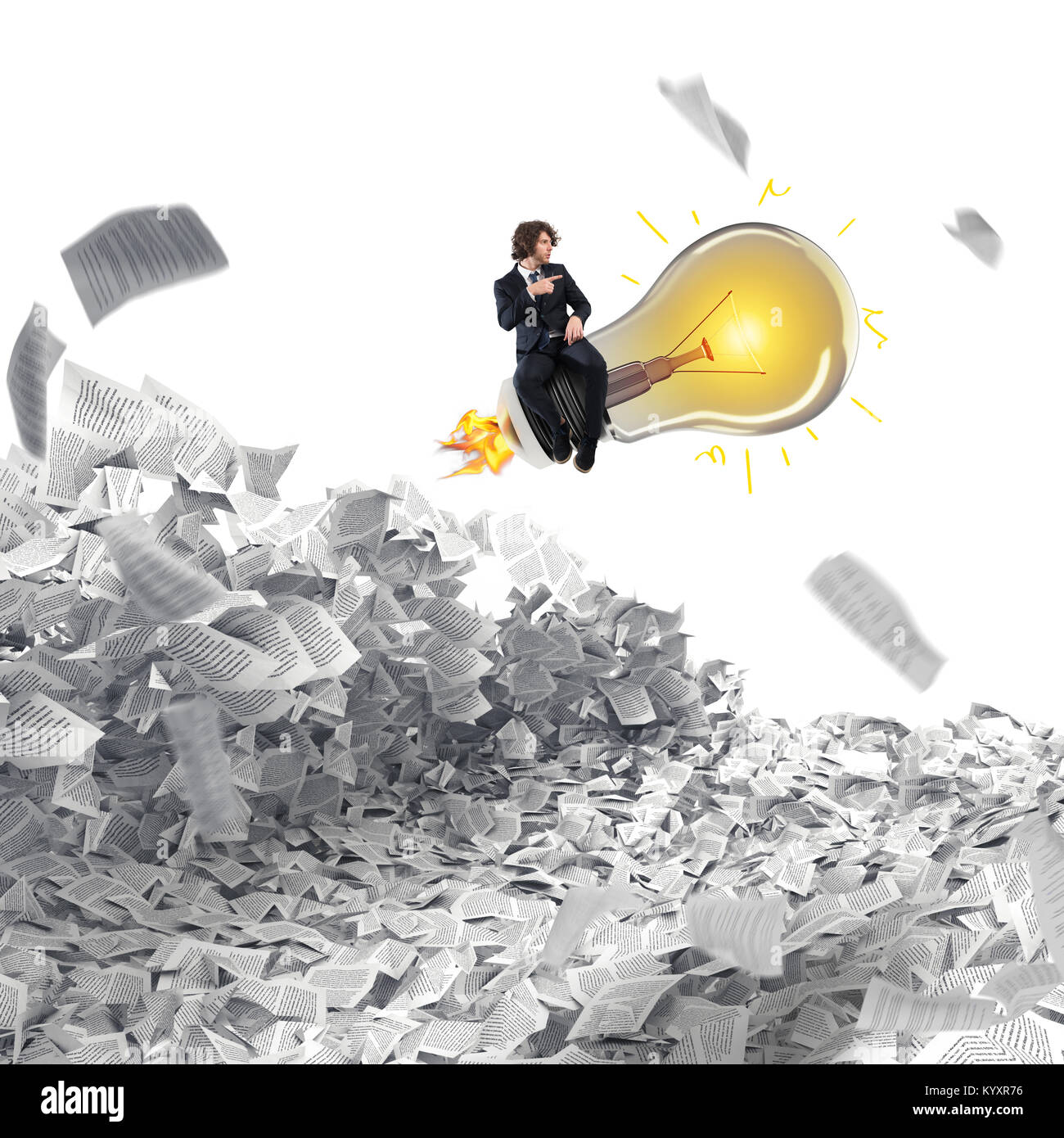 Great business idea. 3D Rendering - Stock Image