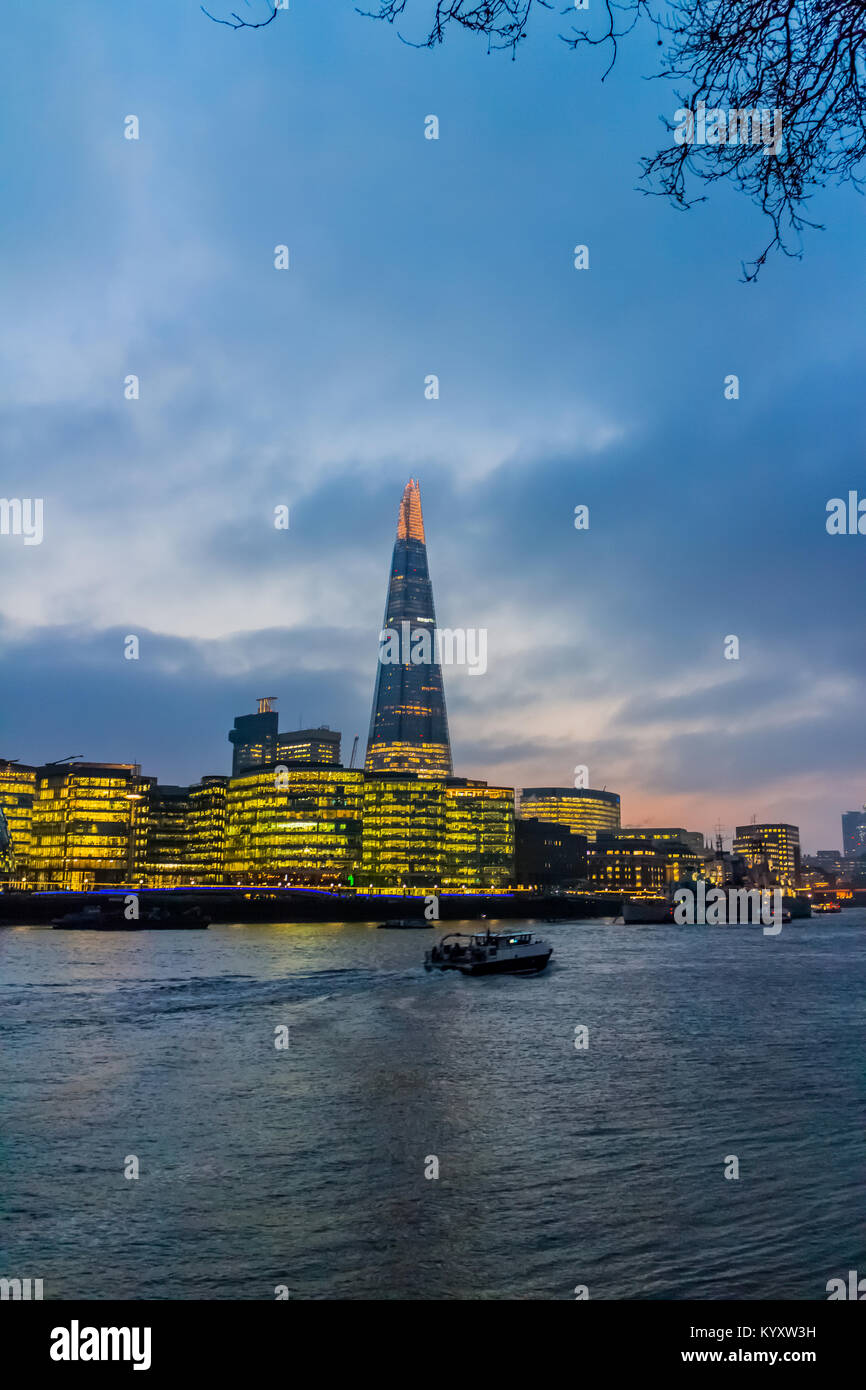 The Shard, Embankment / River Thames, London Stock Photo