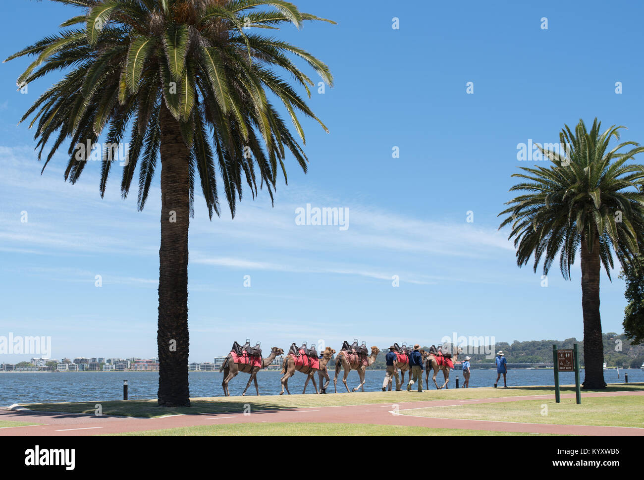 PERTH, Australia, WA / Western Australia - 2017 December 21, Swan River Perth. (Photo by Ulrich Roth / www.ulrich - Stock Image