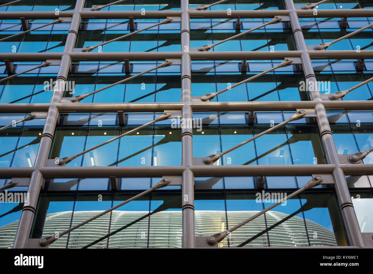 Exterior of office buildings around the City of London, United Kingdom - Stock Image