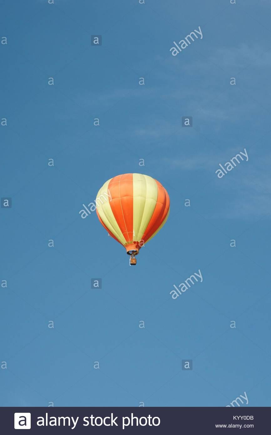 A hot air ballon in the sky - Stock Image