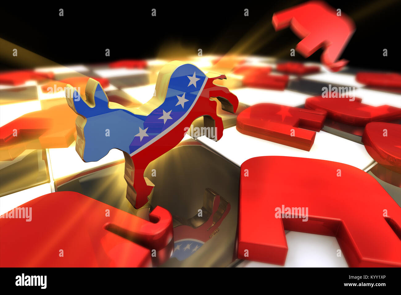 Usa Political Parties Symbols Stock Photos Usa Political Parties