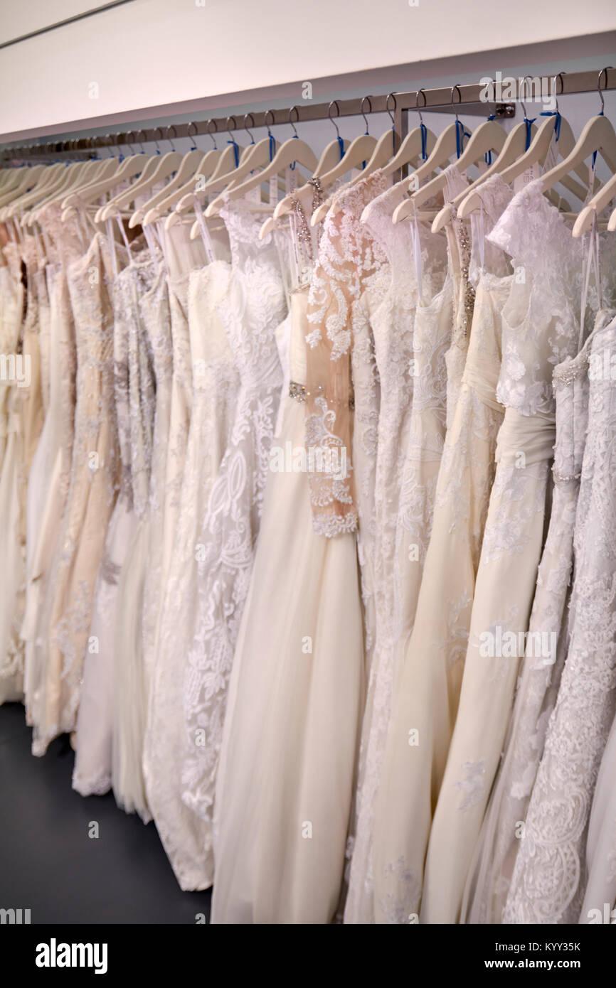 7a8ce2ed21 A Wedding Dresses Shop Stock Photos & A Wedding Dresses Shop Stock ...