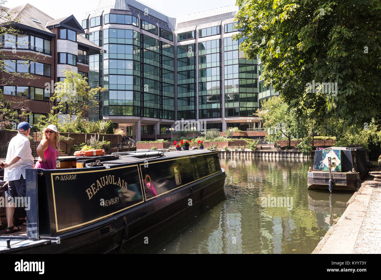 New developments along the River Thames in Reading, Berkshire UK 2014 - Stock Image