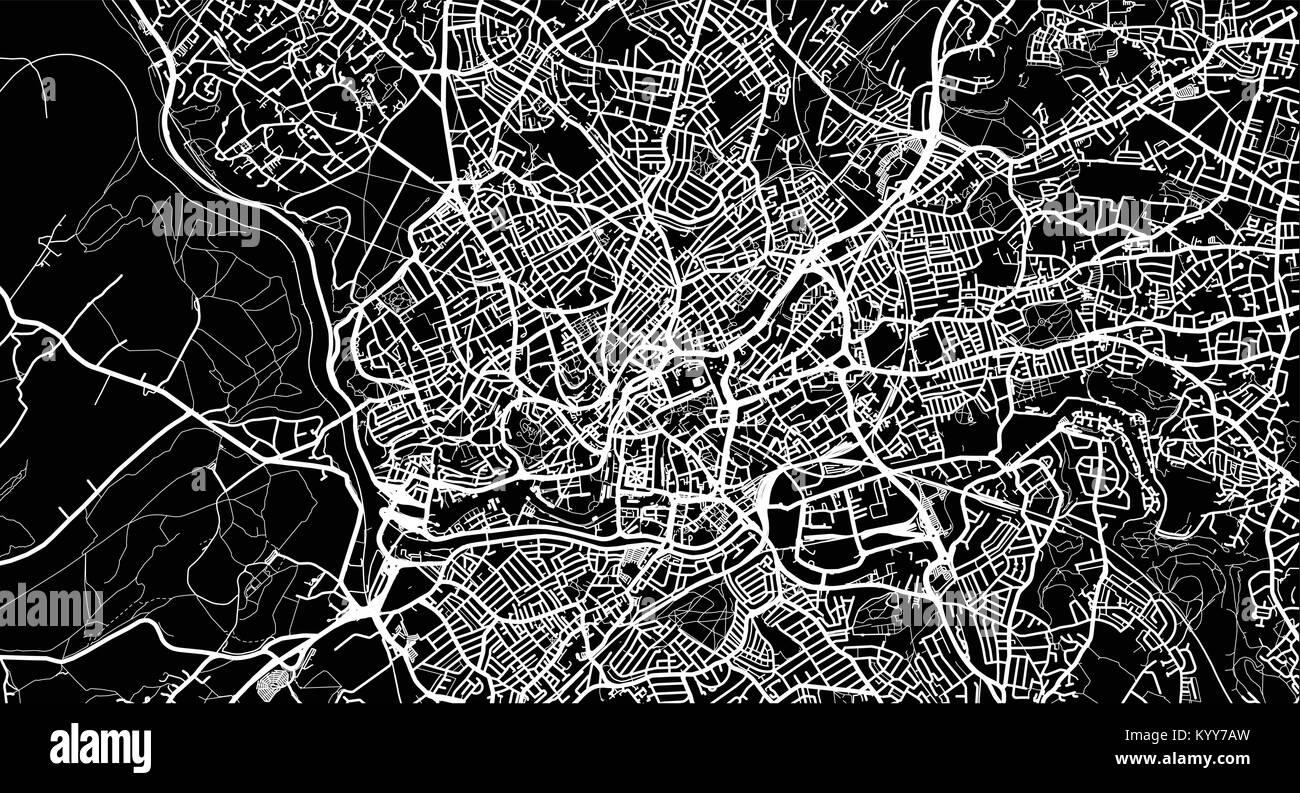 Urban vector city map of Bristol England