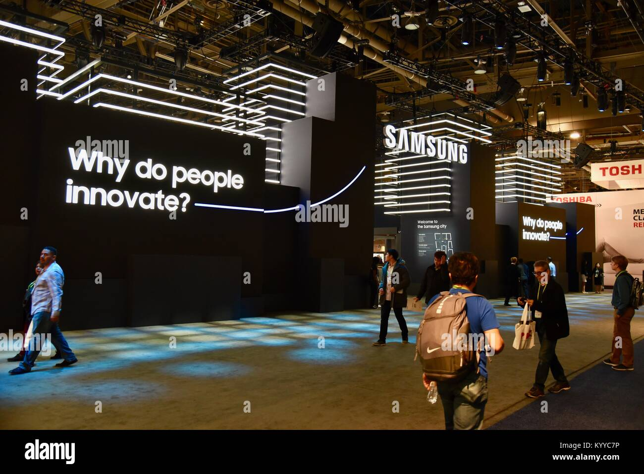 Exhibition Booth Las Vegas : Samsung booth display at ces consumer electronics show the