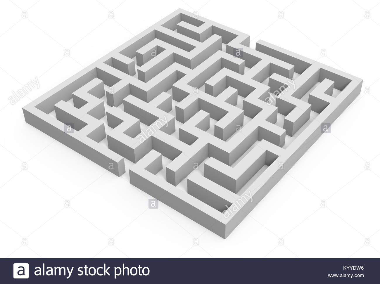 3d rendering maze blank square maze template labyrinth for