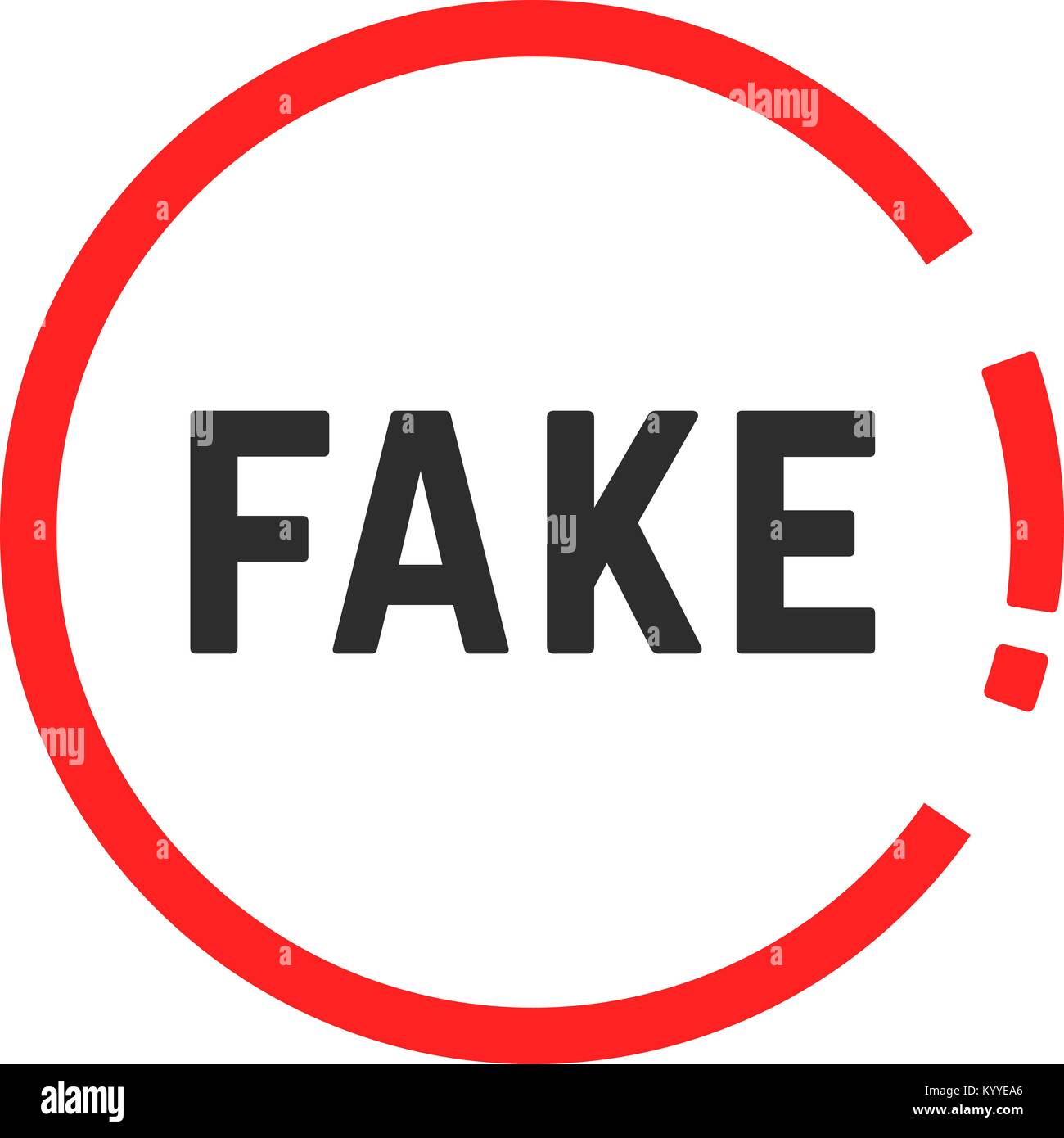 simple red fake sign - Stock Vector
