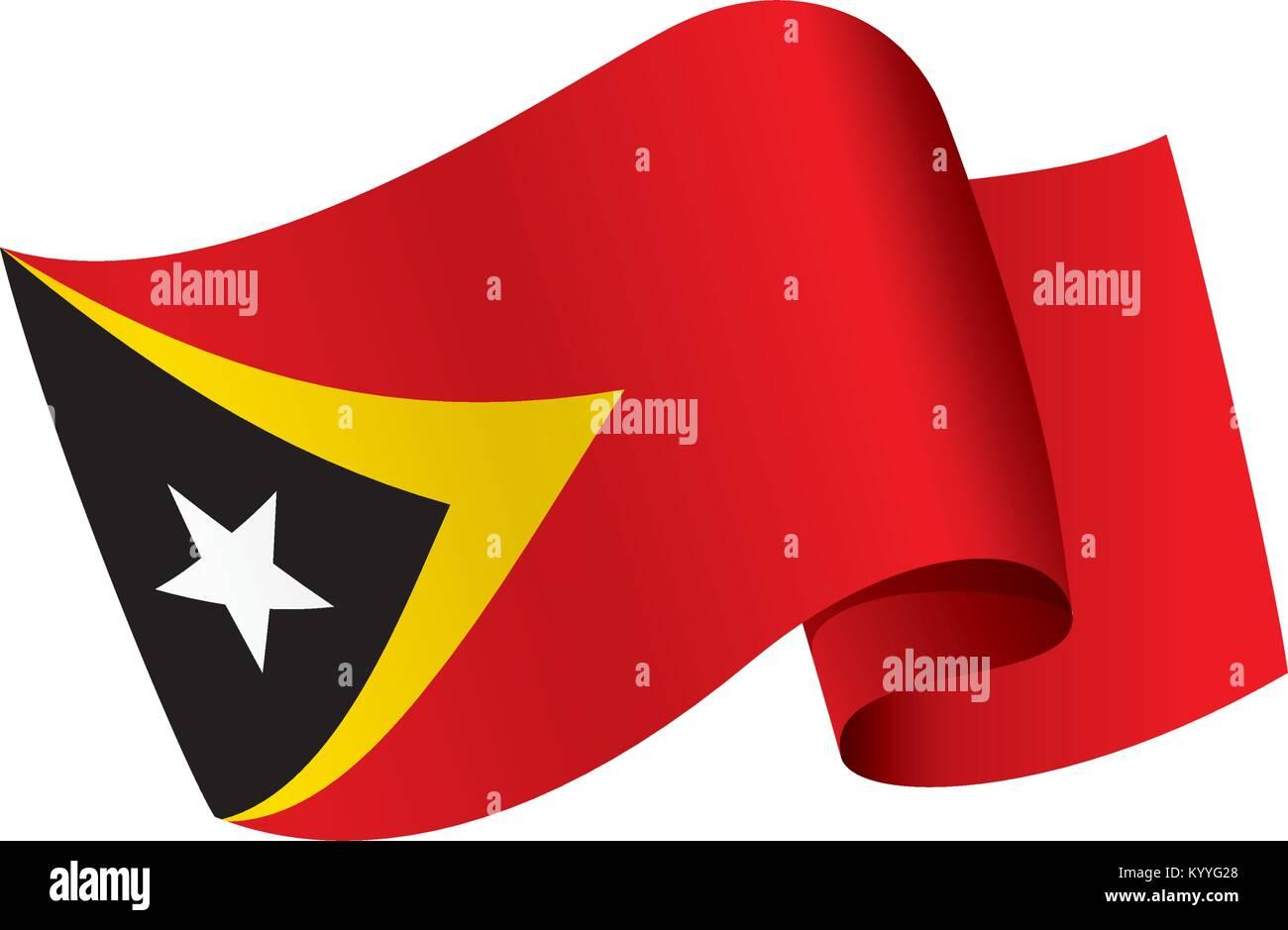 east timor flag, vector illustration - Stock Image