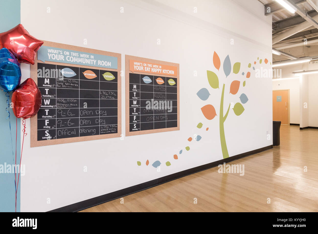 Tesco Extra, Rotherham, Yorkshire UK. The Eat Happy Kitchen offers free activities for teachers, youth leaders and - Stock Image