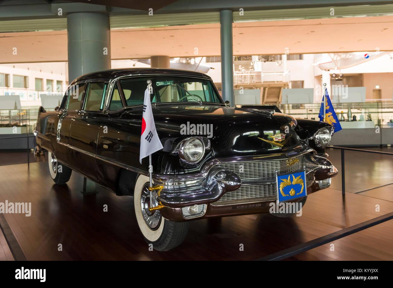Presidential Cadillac car on display at the War Memorial Museum of ...