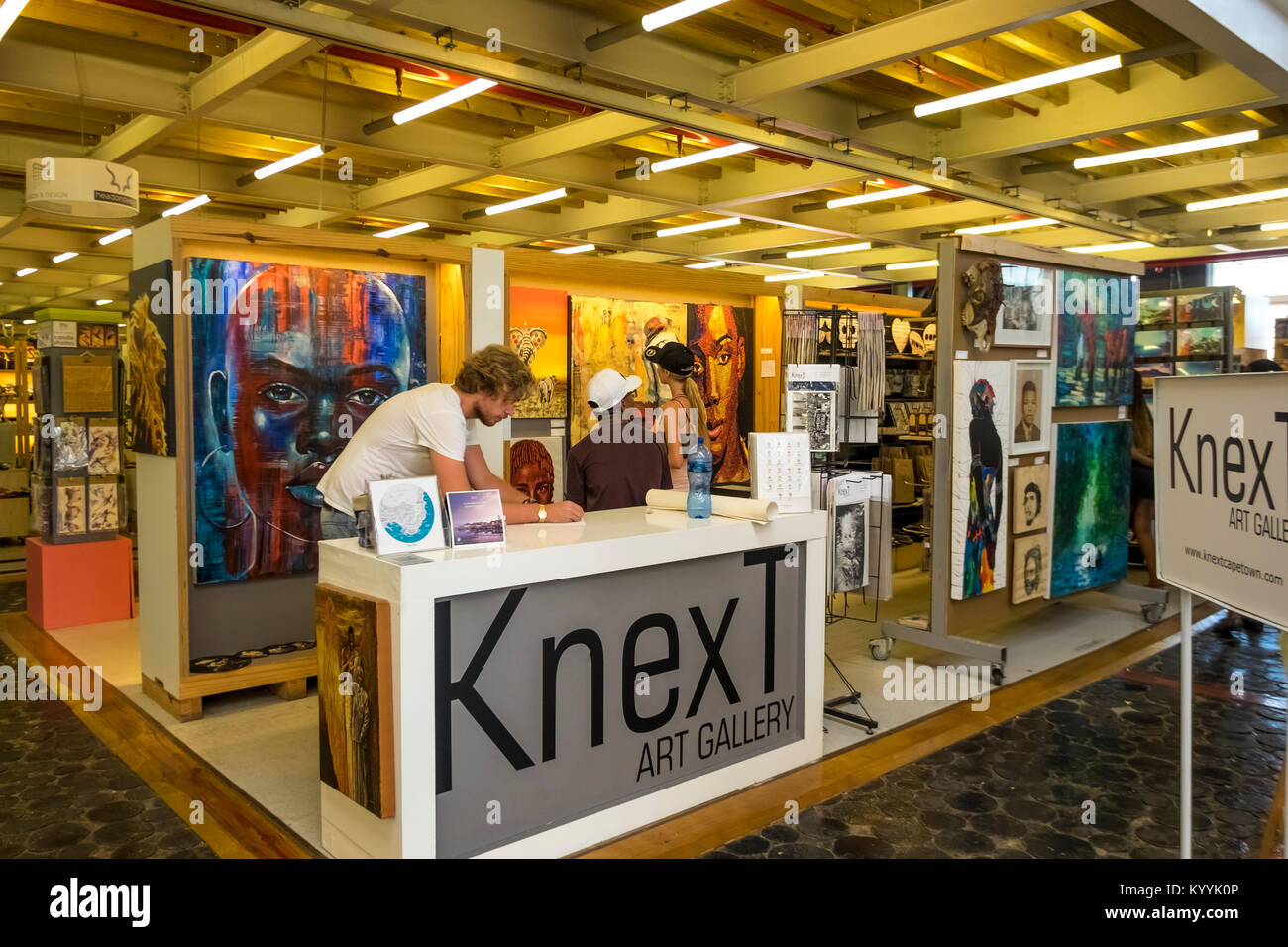 Local  crafts on display at The Watershed, V&A Waterfront, Cape Town, South Africa - Stock Image