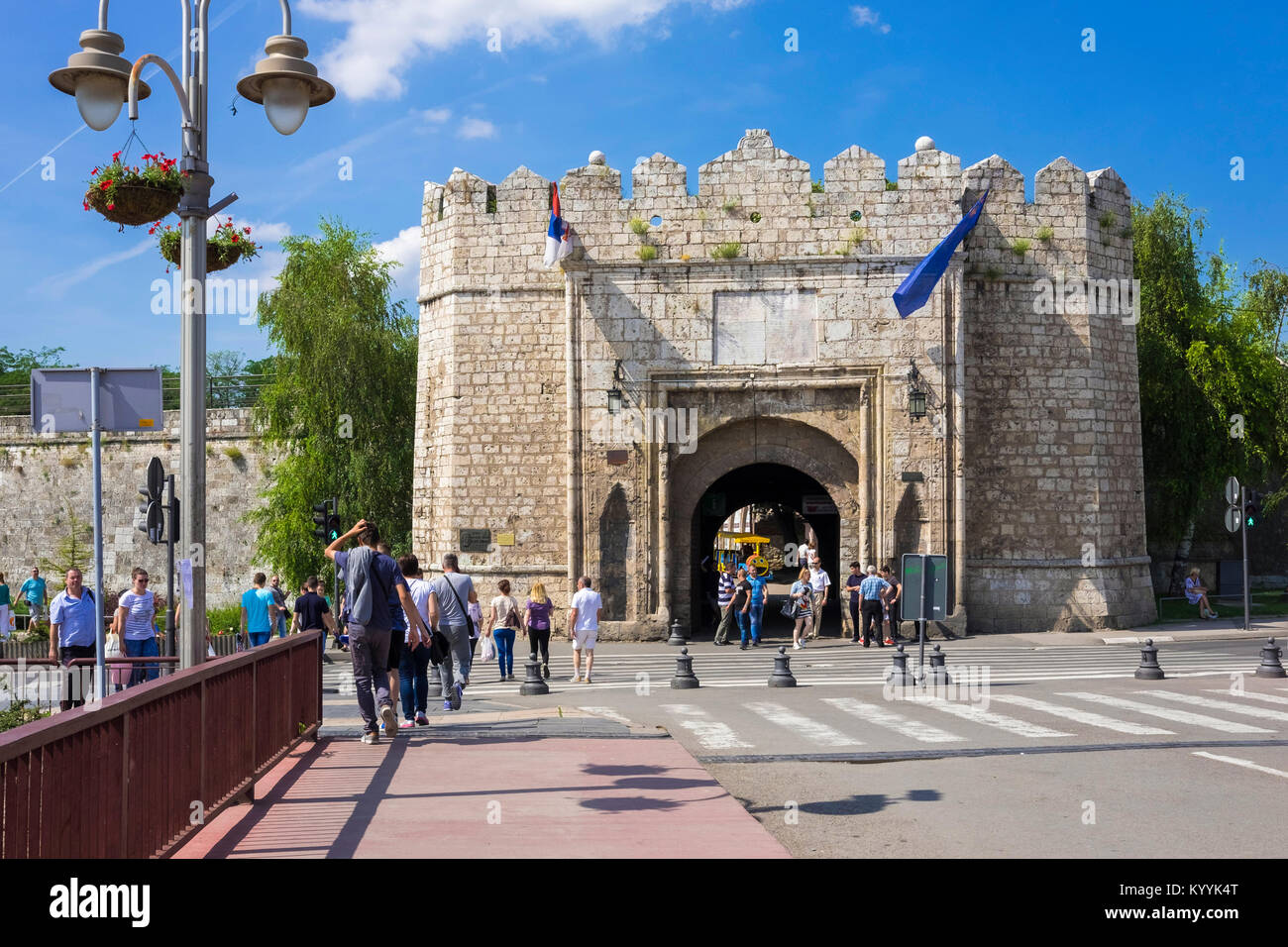 Nis, Serbia, Eastern Europe - The Istanbul or Stambol Gate, the main entrance to the Fortress in Nis town - Stock Image