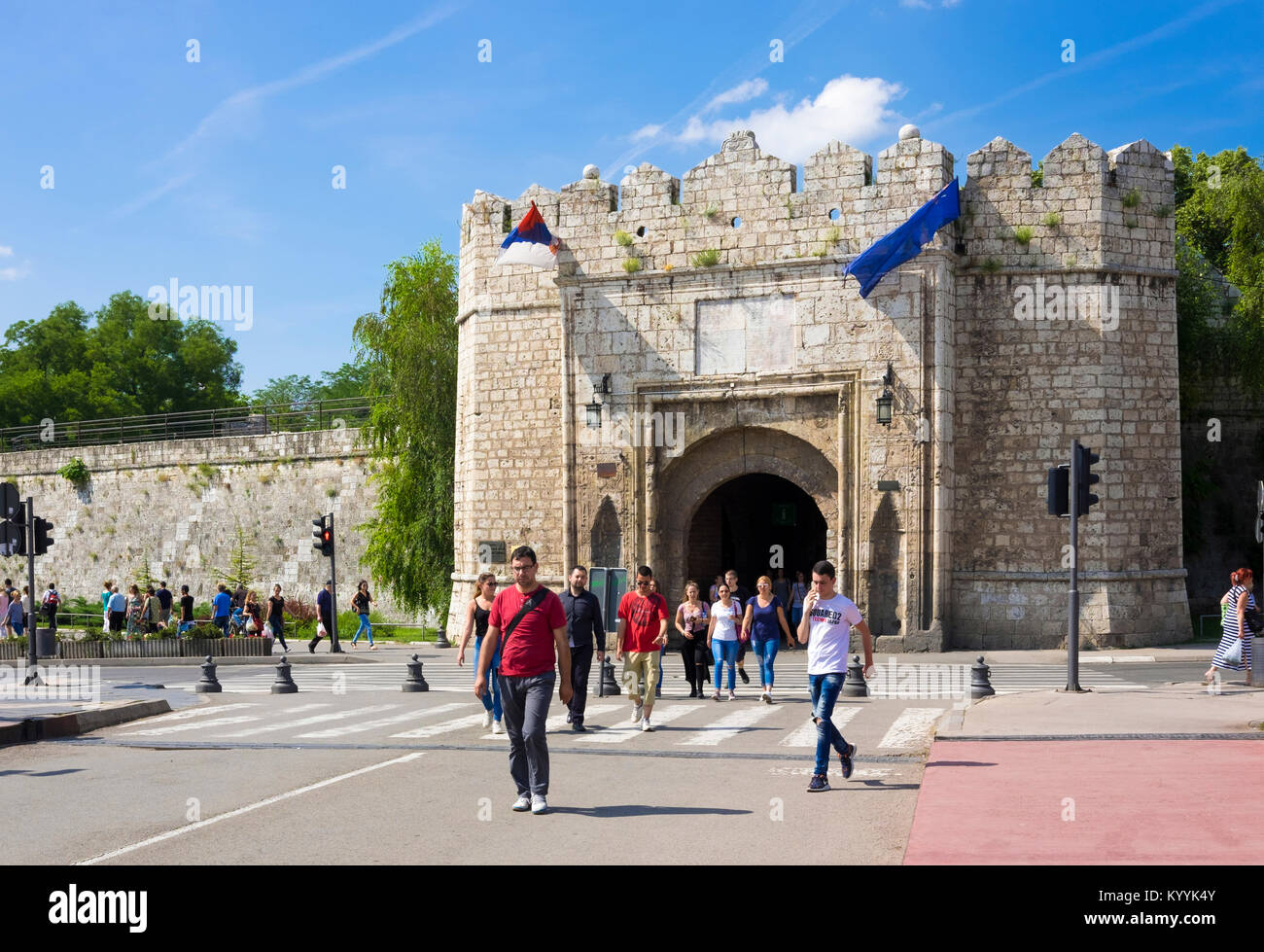 The Istanbul or Stambol Gate, the main entrance to the Nis Fortress in Nis, Serbia, Eastern Europe - Stock Image