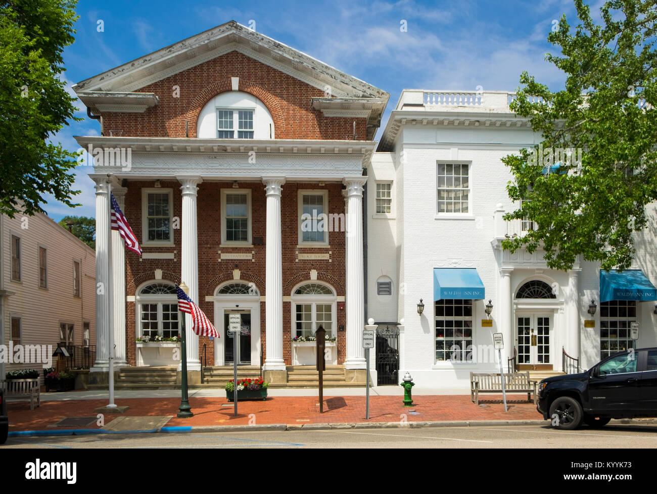 Southampton Village Hall, Main Street, Southampton, The Hamptons, Long Island, New York, USA - Stock Image